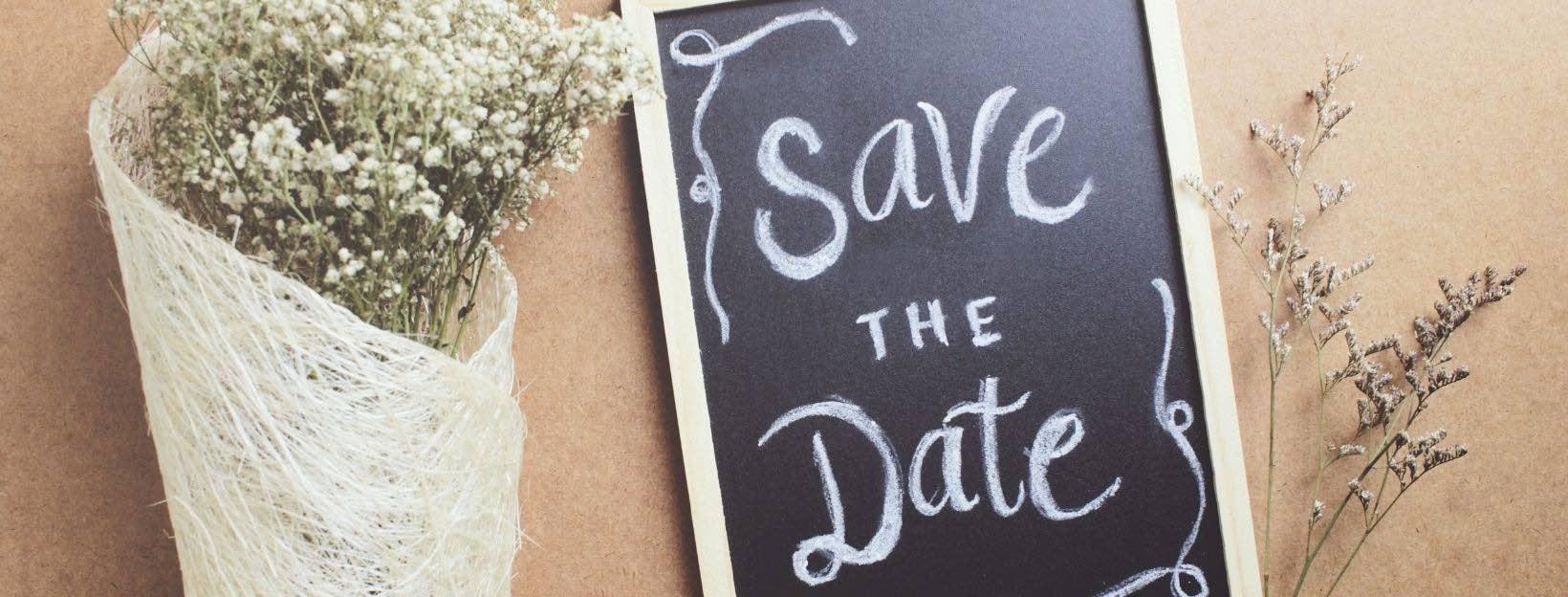 Save the Date und Blumen