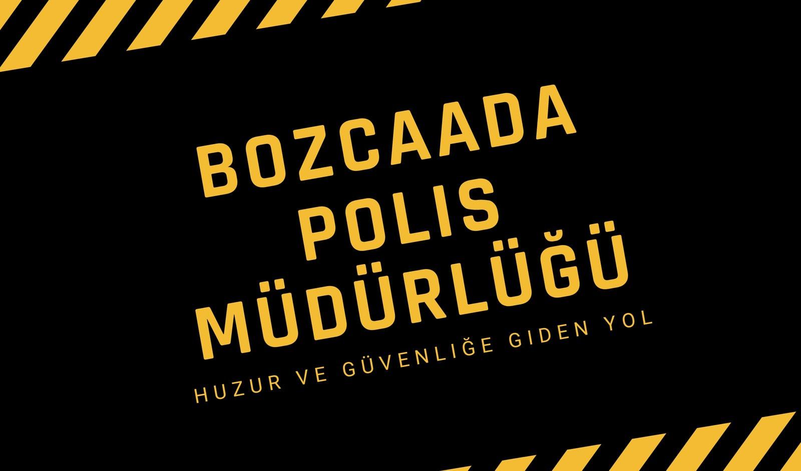 Siyah ve Sarı Polis Kartvizit