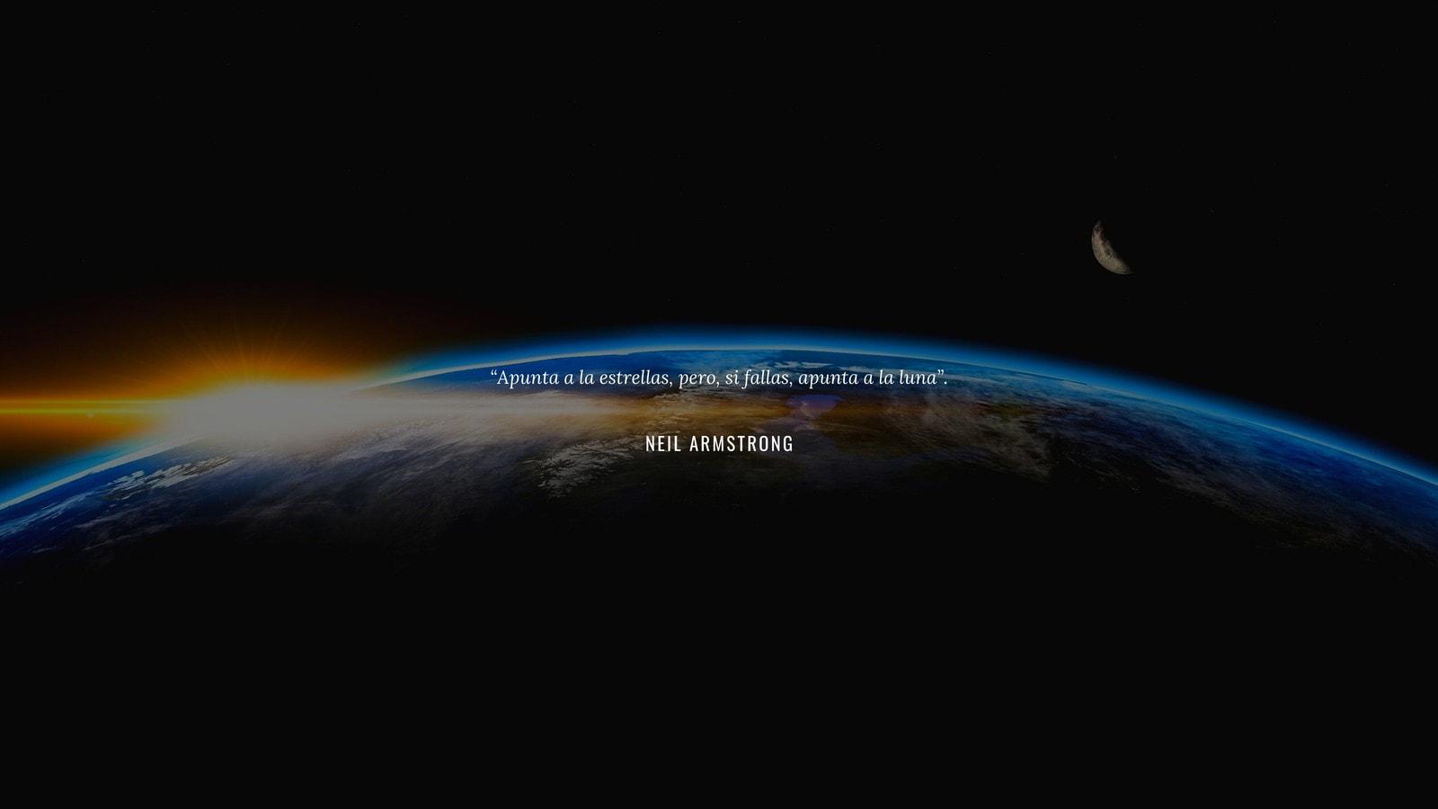 Simple Espacio Exterior Neil Armstrong Cita Genial Fondo de Pantalla de Escritorio