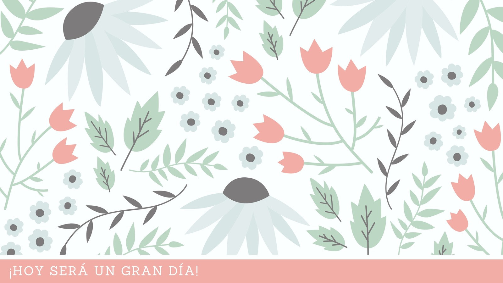 Pastel Flores y Hojas Ilustración Creativo Fondo de Pantalla