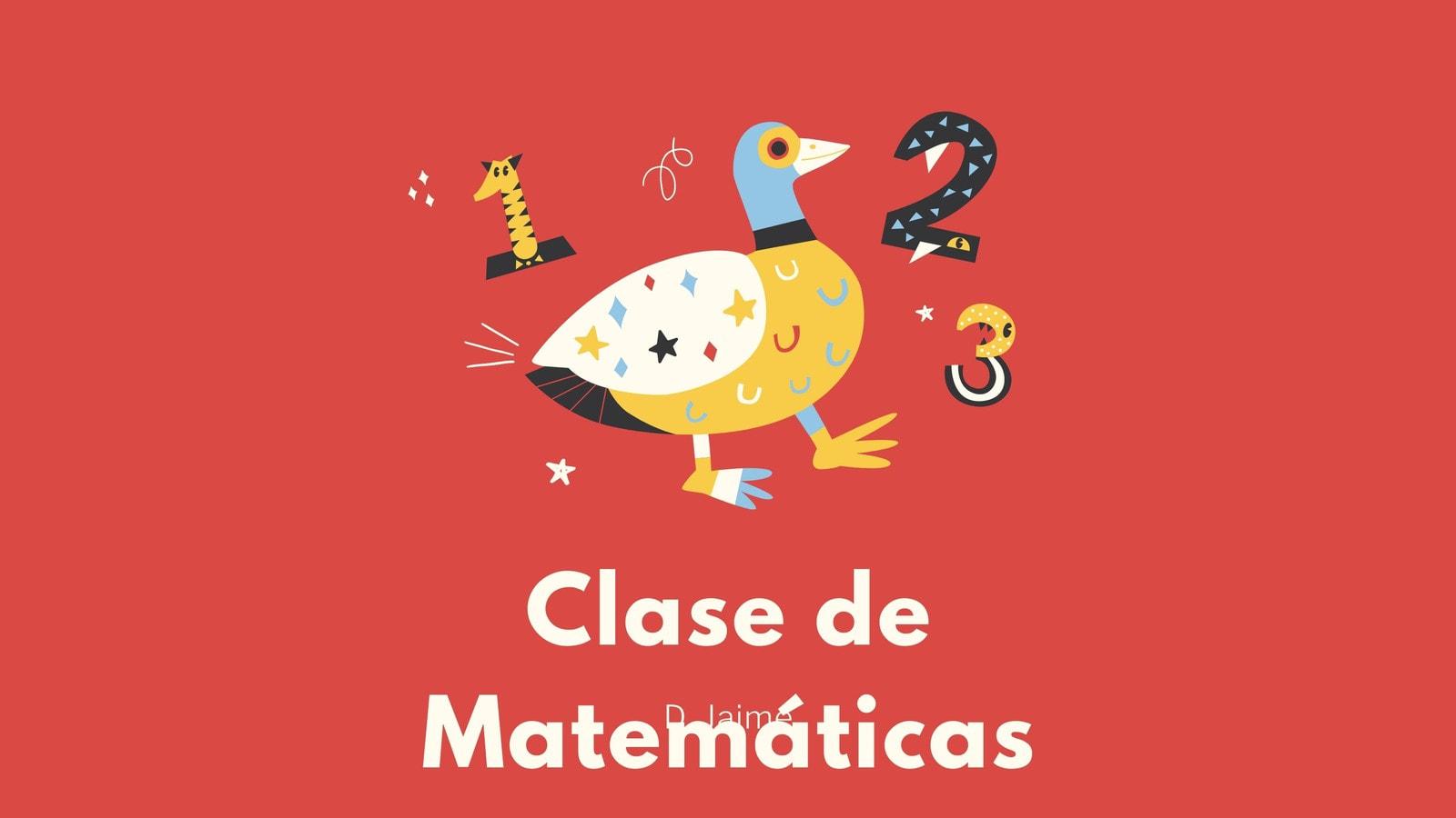 Rojo Blanco Divertido Clase de Matemáticas Presentación Educativa