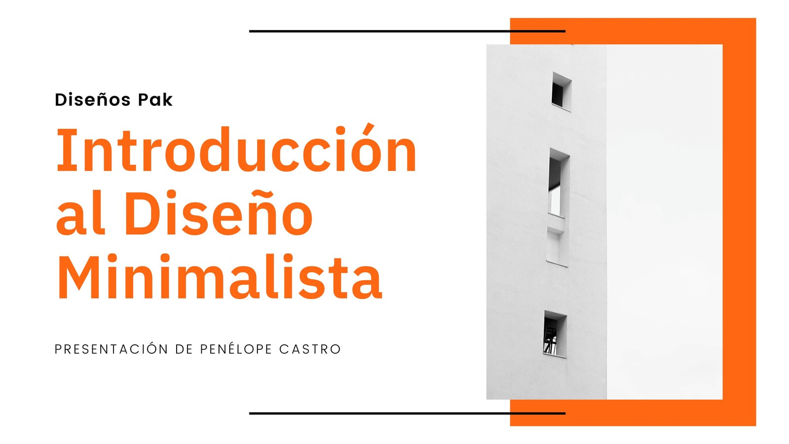 Naranja Negro Blanco Foto Moderno Arquitectura Presentación