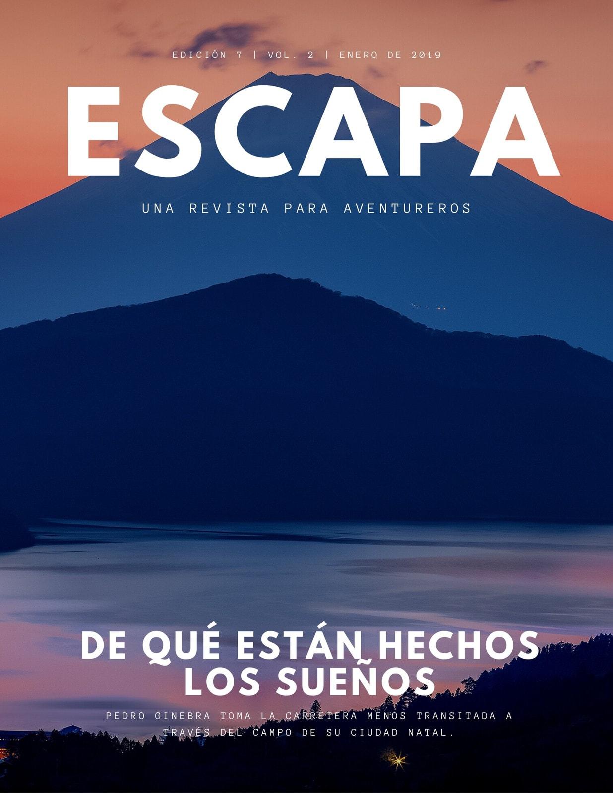 Revista de Viajes Montañas Sencillo Moderno
