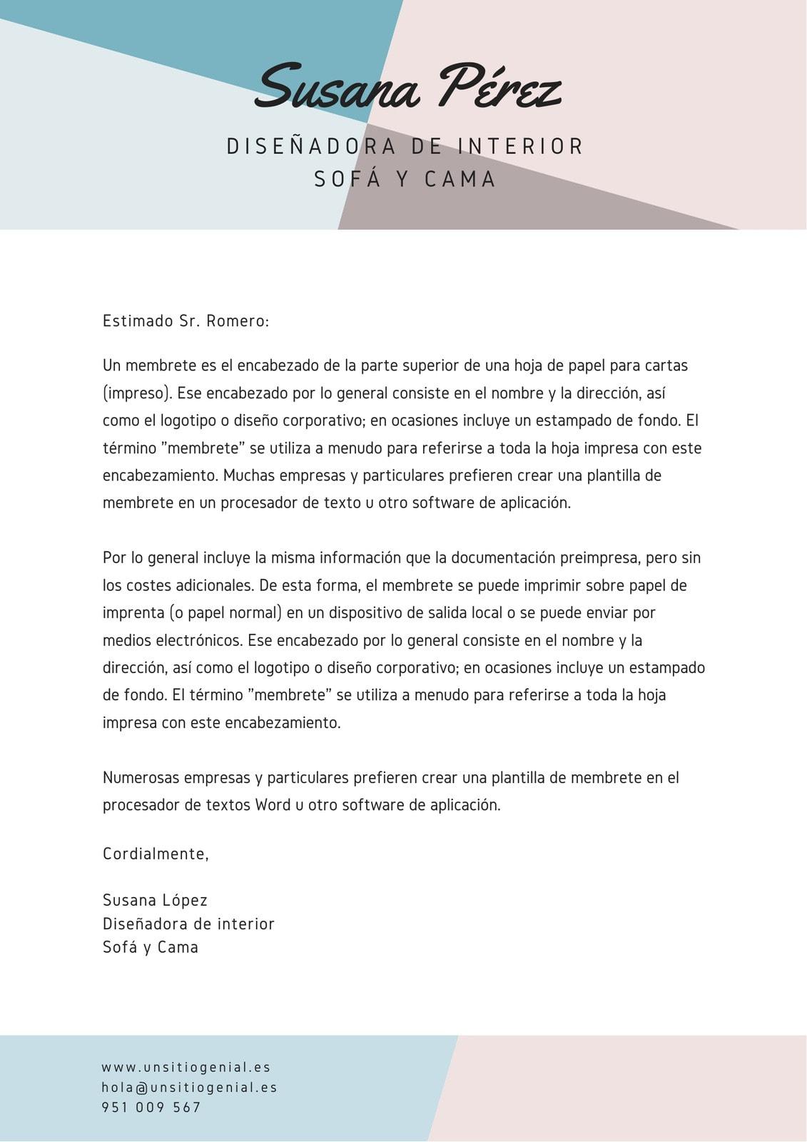 Marrón Azul Encabezado Creativo Membrete Carta