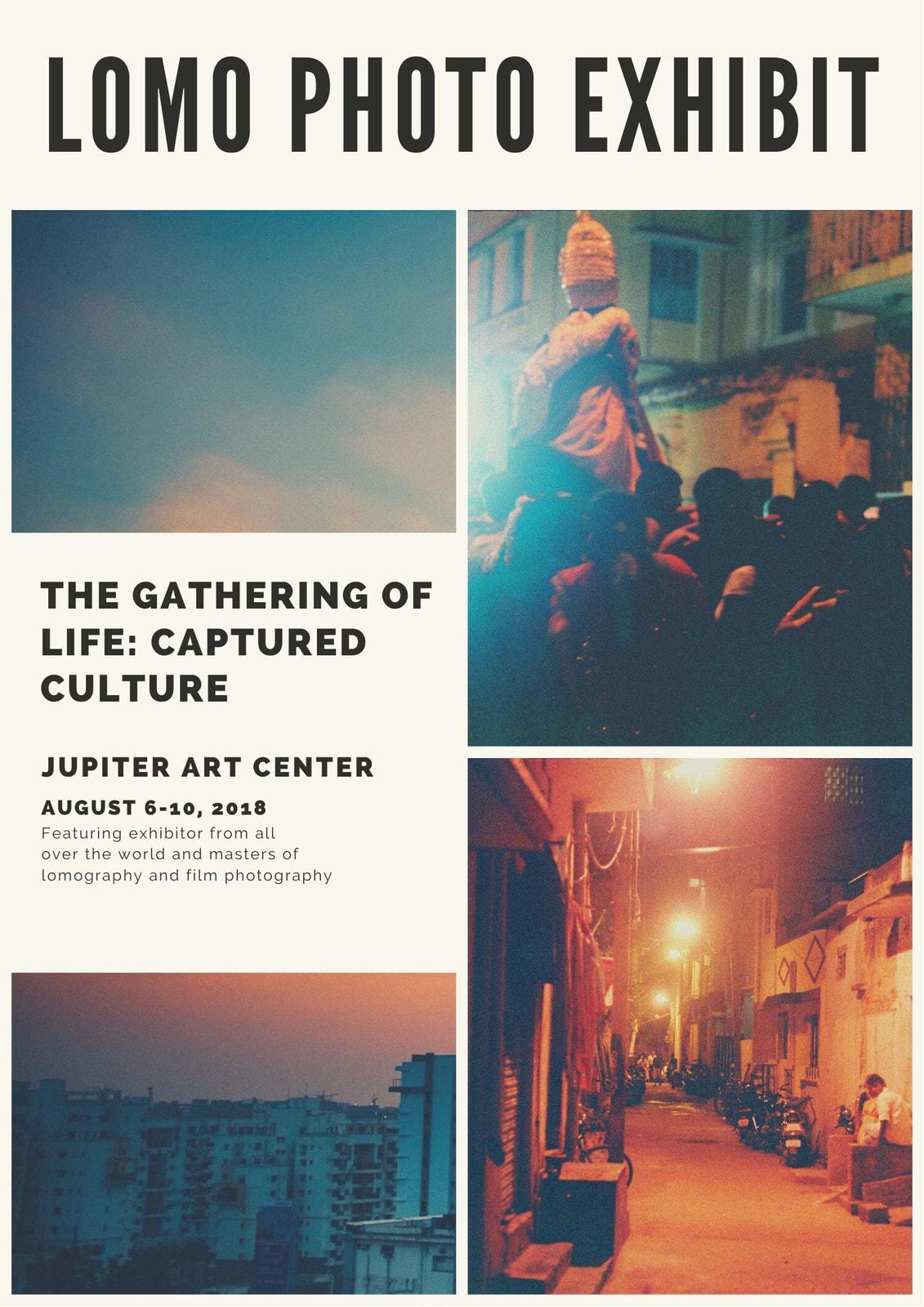 Photo Collage Exhibit Event Program