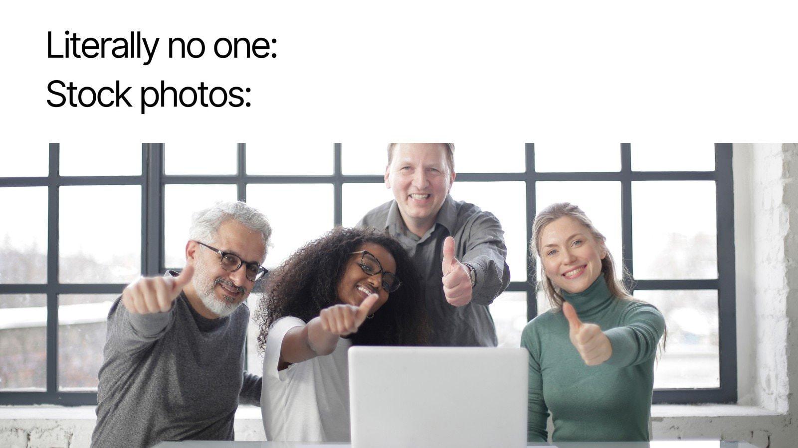 Literally No One Stock Photos Simple Meme