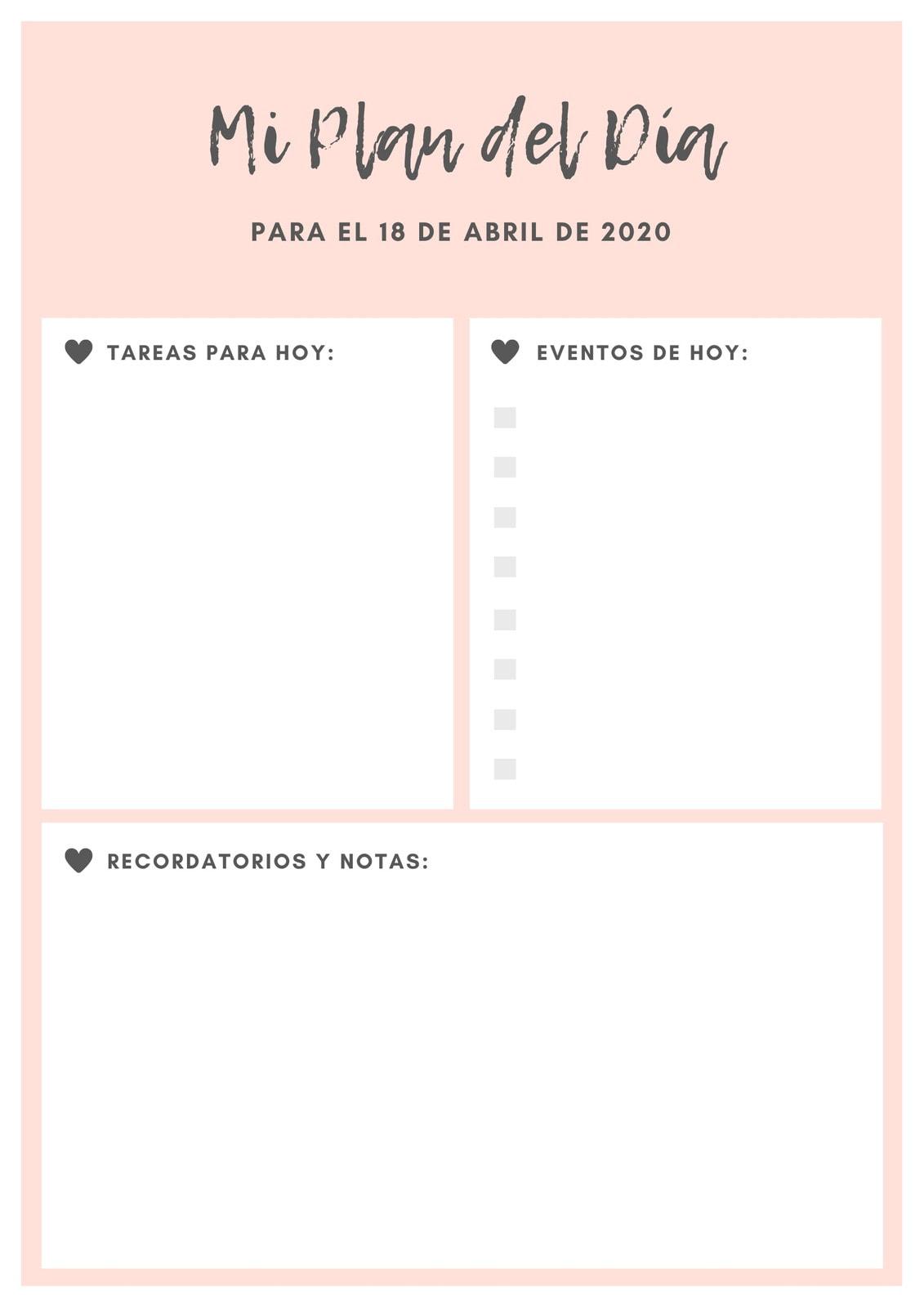 Rosa Gris Bebé Icono Corazón General Diario Planificador