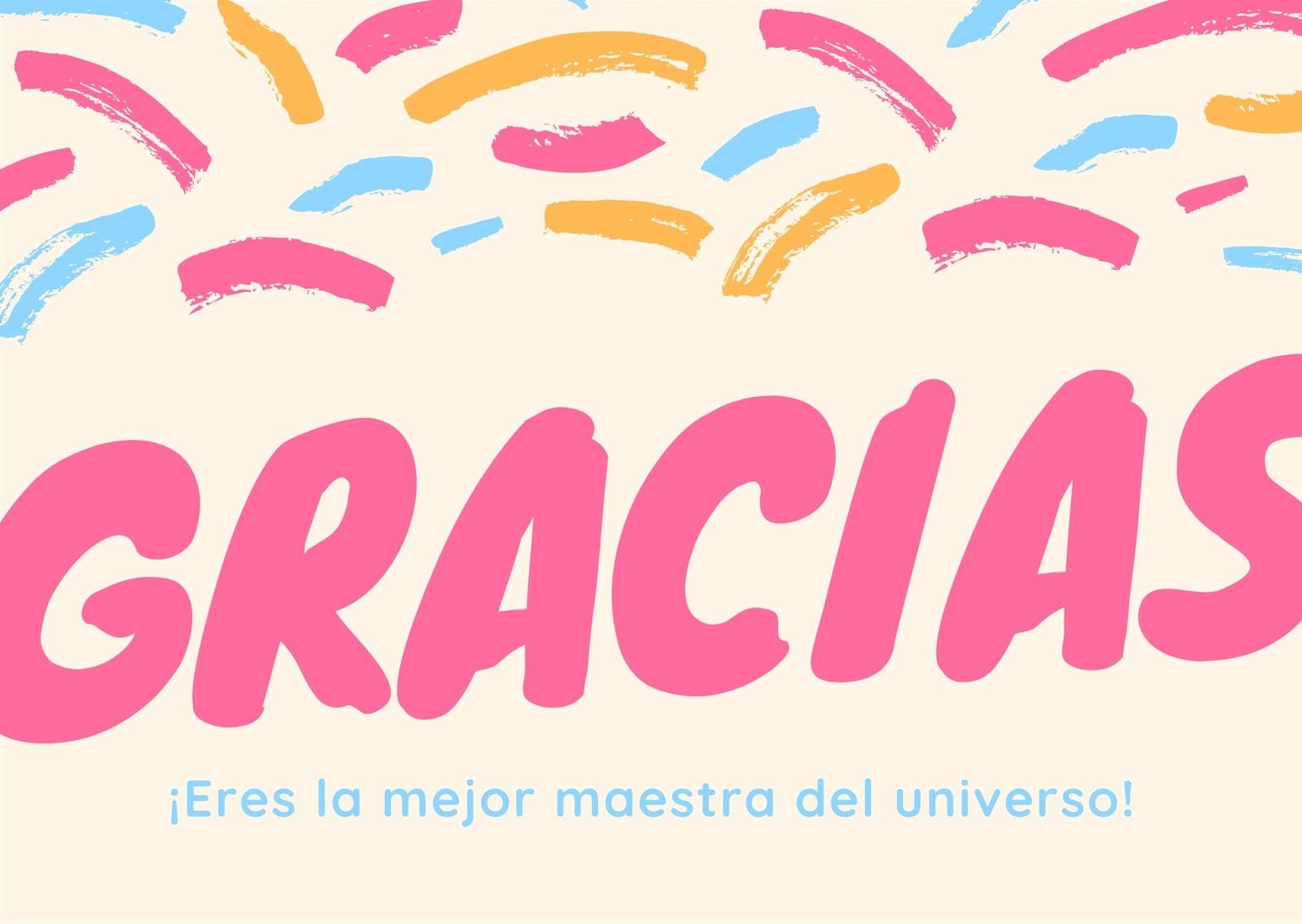 Rosa Negrita Maestra Agradecimiento Tarjeta