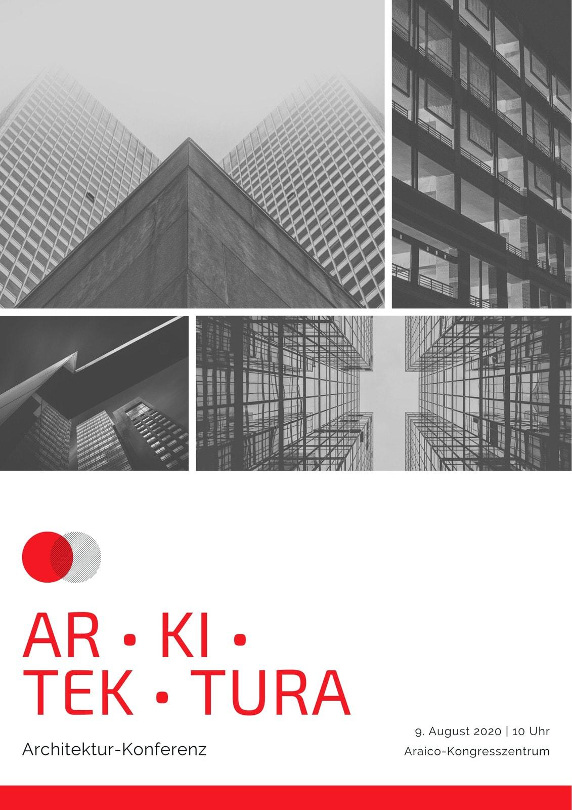 Rot Schwarz Unternehmen Architektur Konferenz Programm