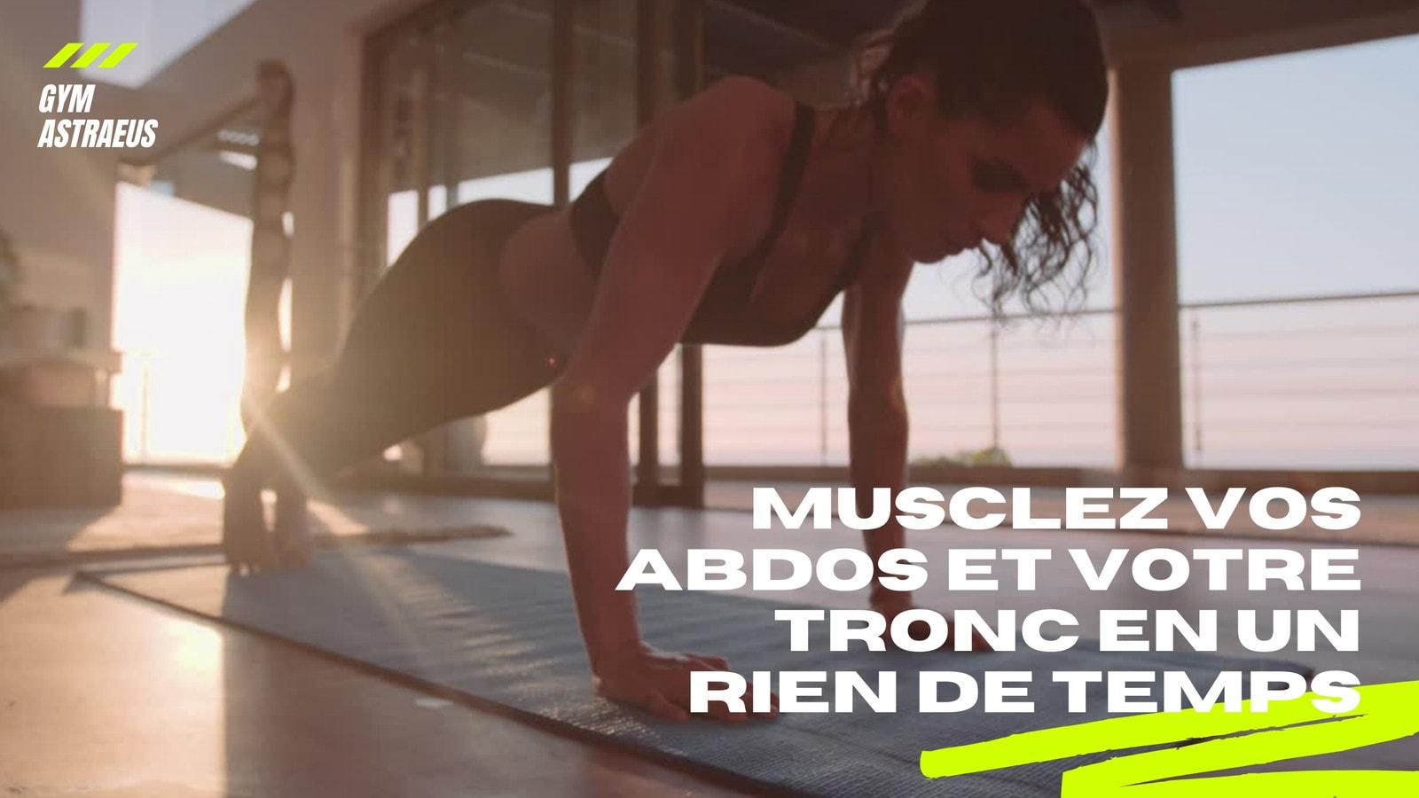 Blanc et Fluo Vert Moderne Fitness 16/9 Vidéo