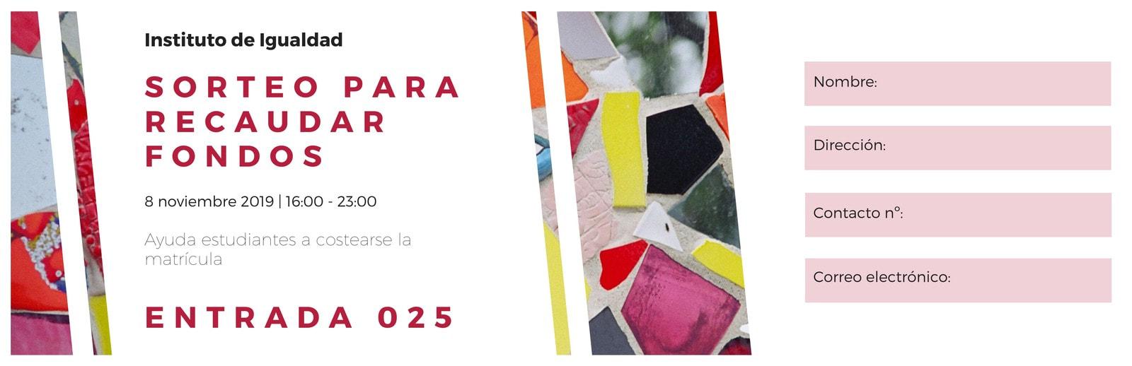 Rosa Blanco Colorido Abstracto Collage Recaudación Fondos Entrada