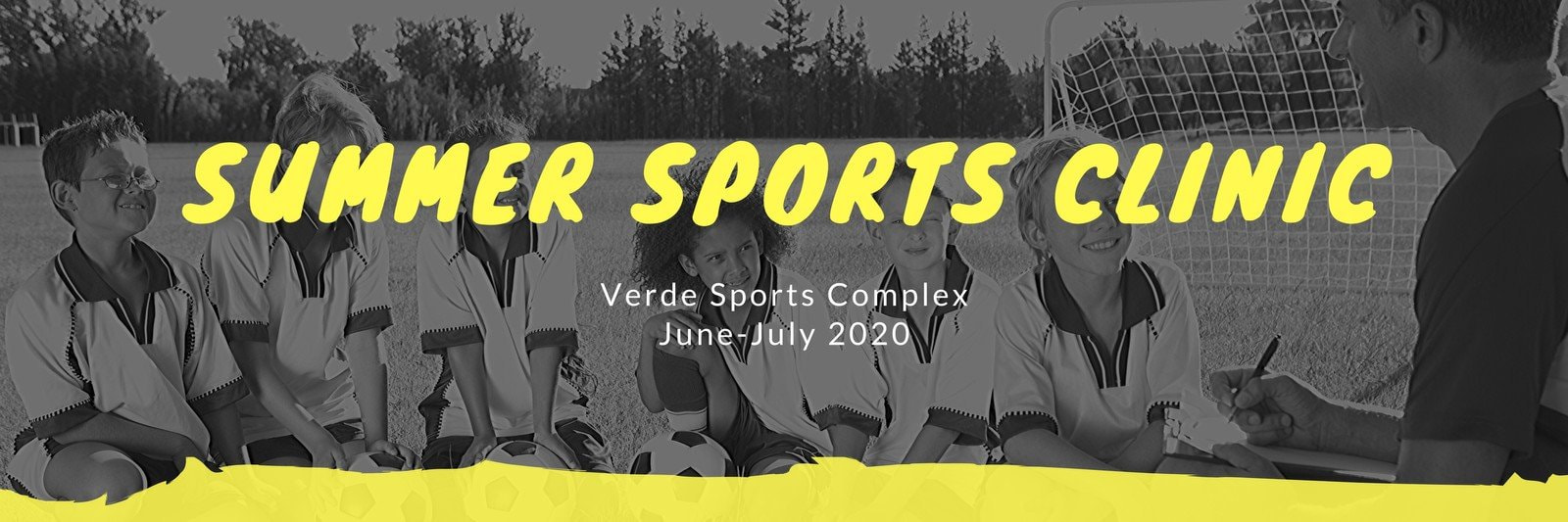 Grayscale Sports Email Header