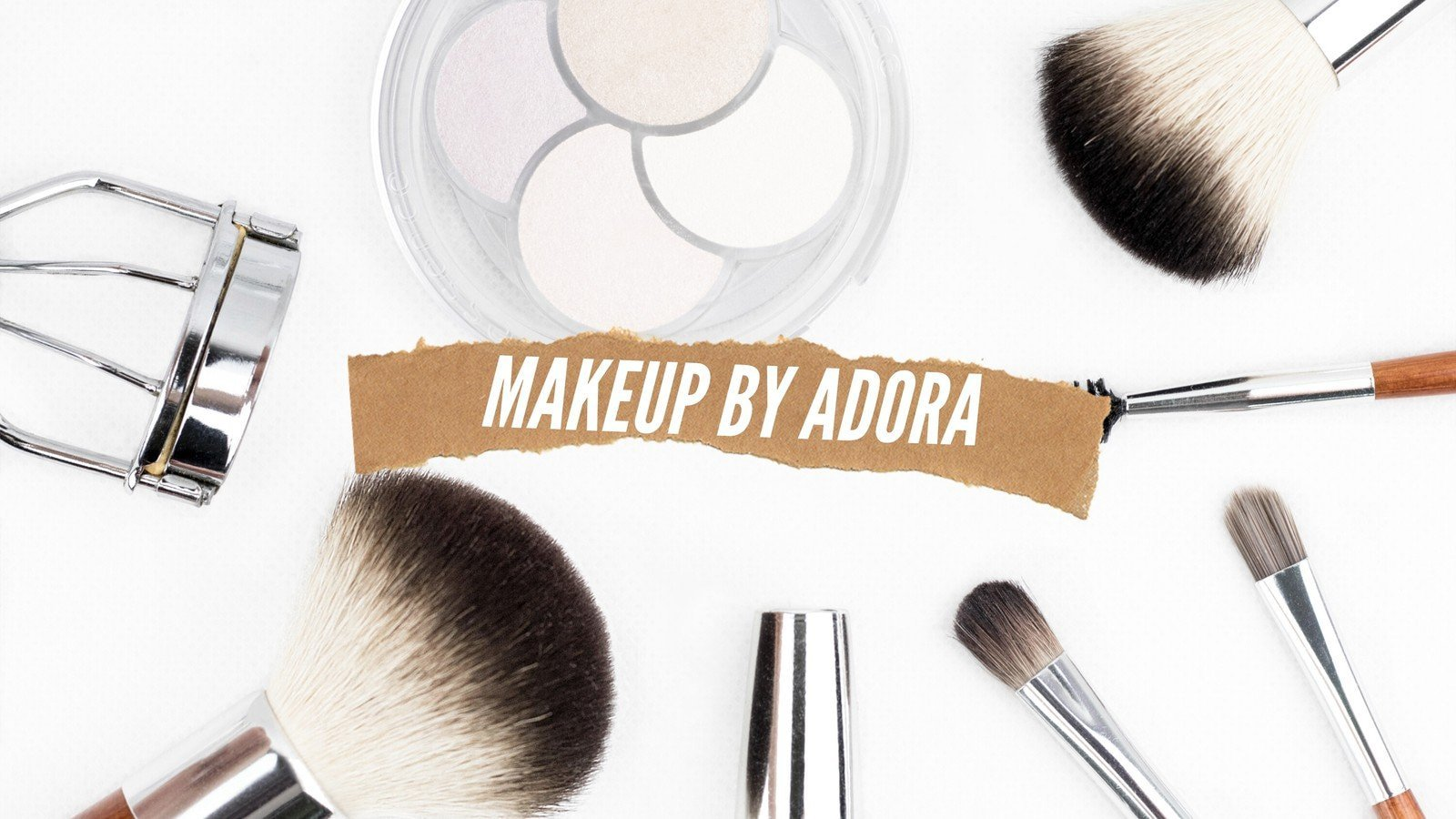 Simple Photo Beauty Makeup YouTube Channel Art