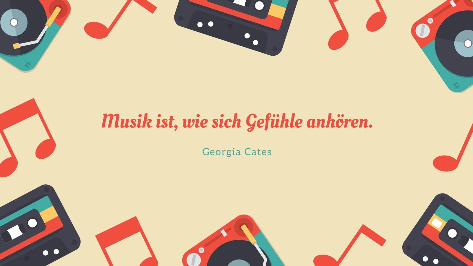 Bunt Musik Kassette Illustriert Retro Desktop Hintergrundbild
