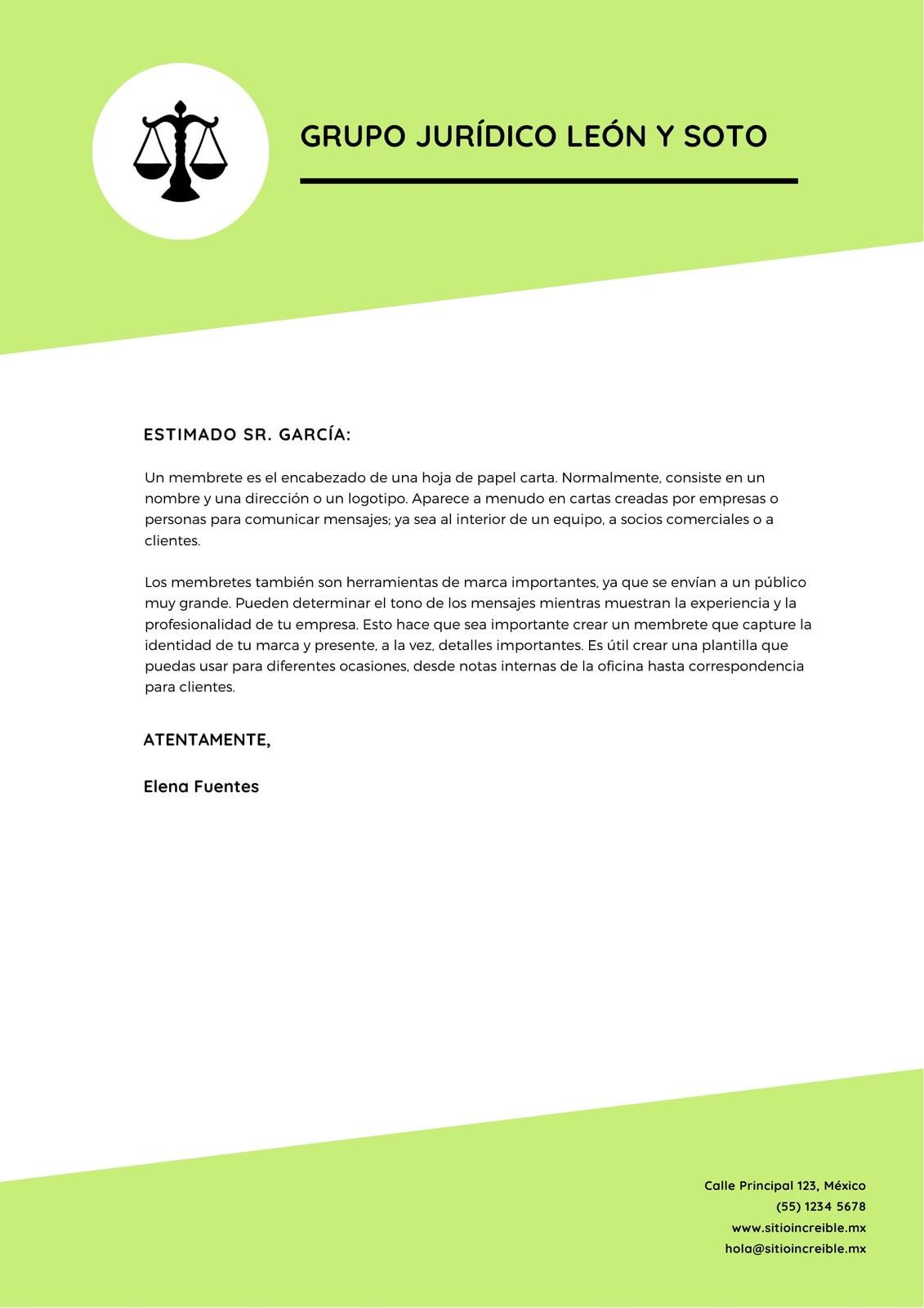 Brillante Verde Oficial Negocio Corporativo Membrete