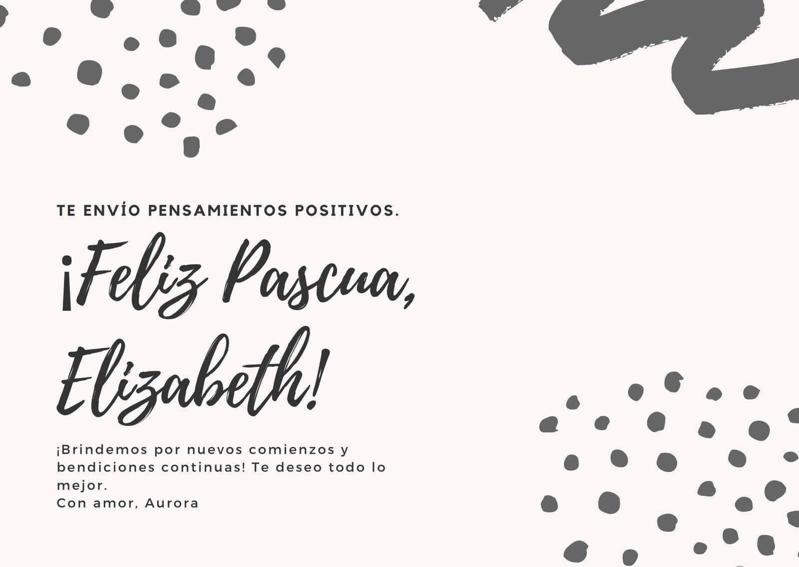 Gira y Blanco Felicitación de Pascua Tarjeta