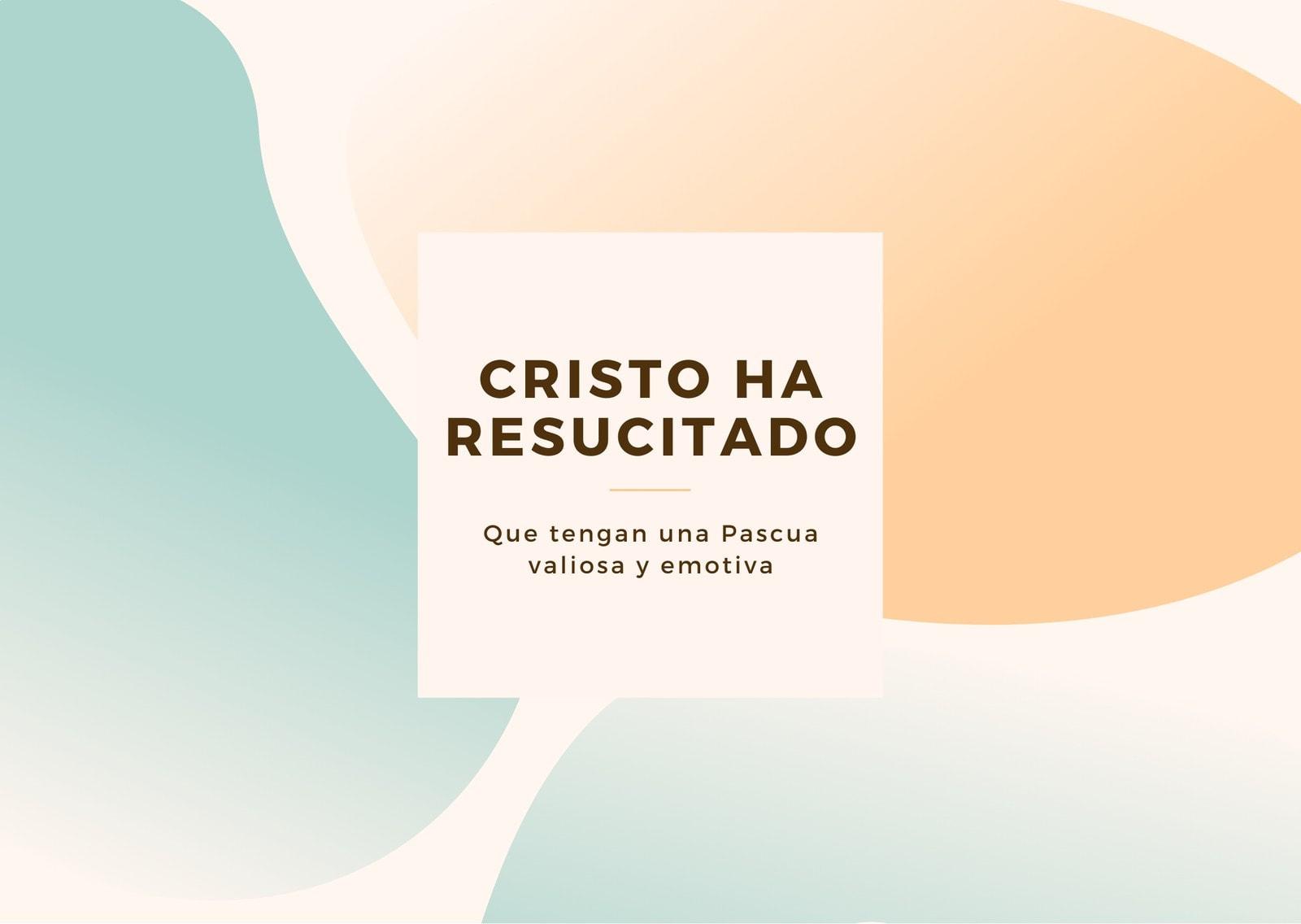 Crema Ilustrado Pascua Tarjeta