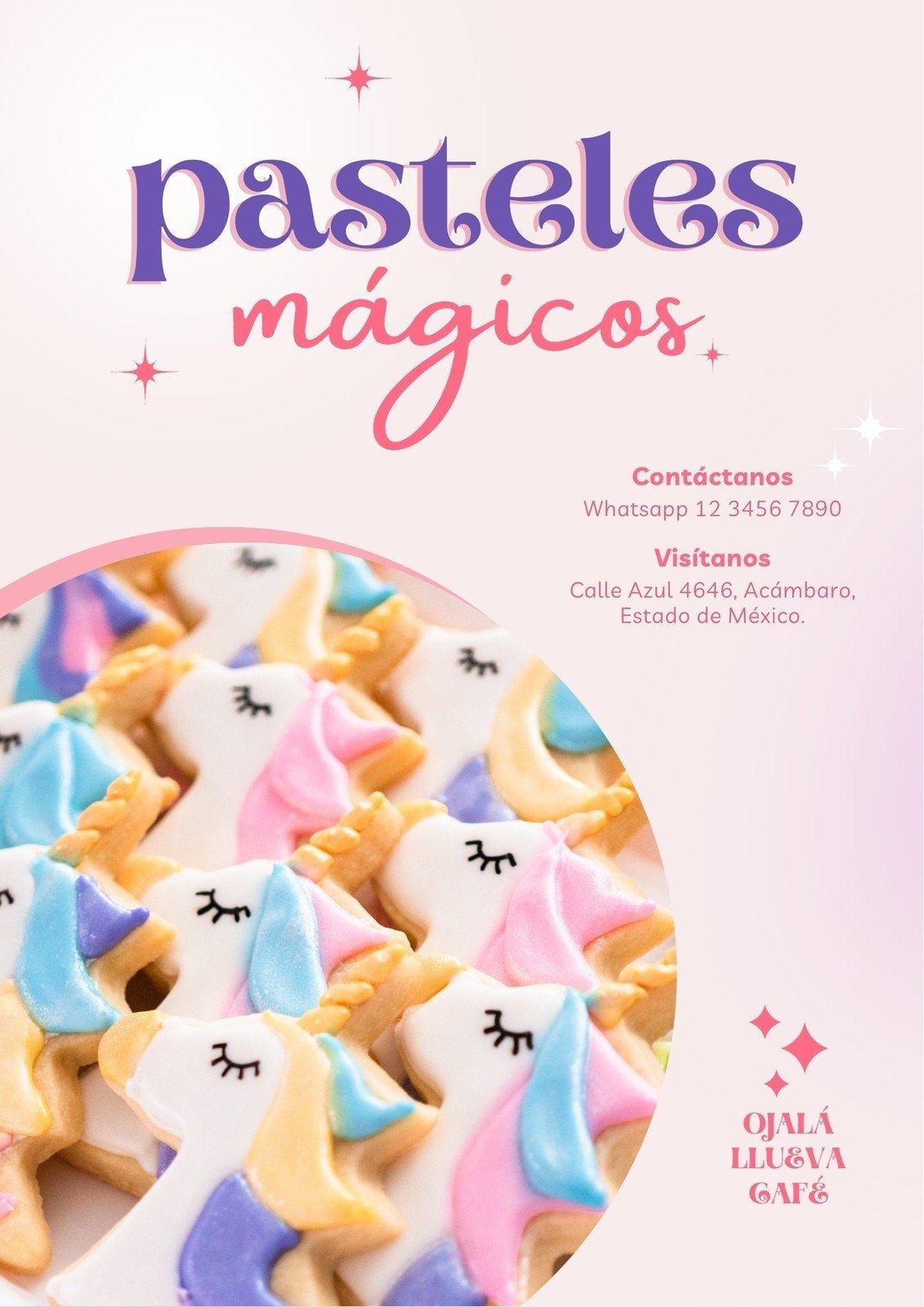 Rosa Pastelería Unicornio Catálogo Delicado Simple Flyer