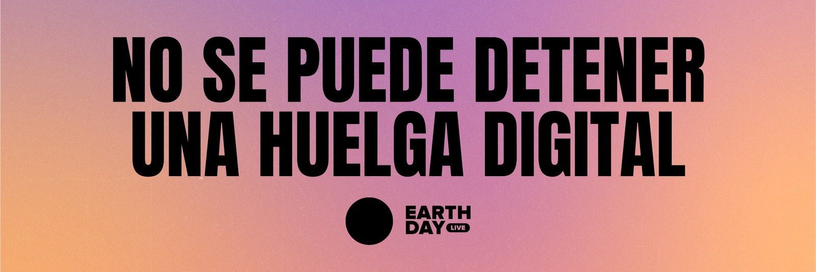 Durazno y Violeta Multicolor Día de la Tierra Banner para Sitio Web
