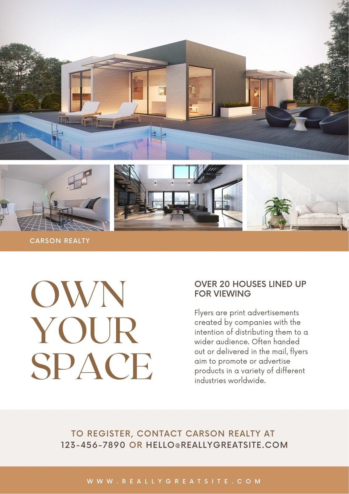 Brown Real Estate Business Flyer