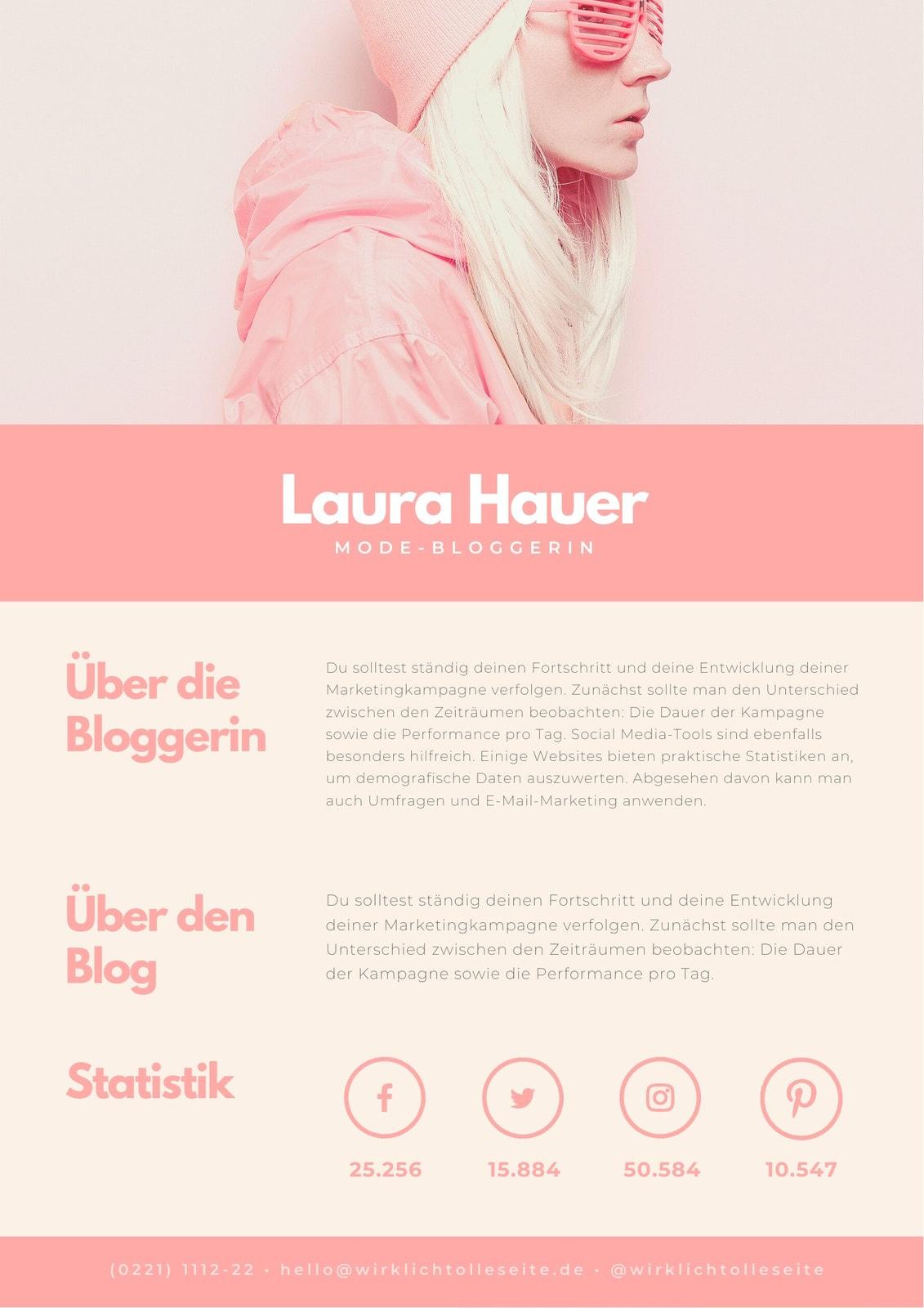 Pastellfarben Hipster Blogger Allgemein Medienkit