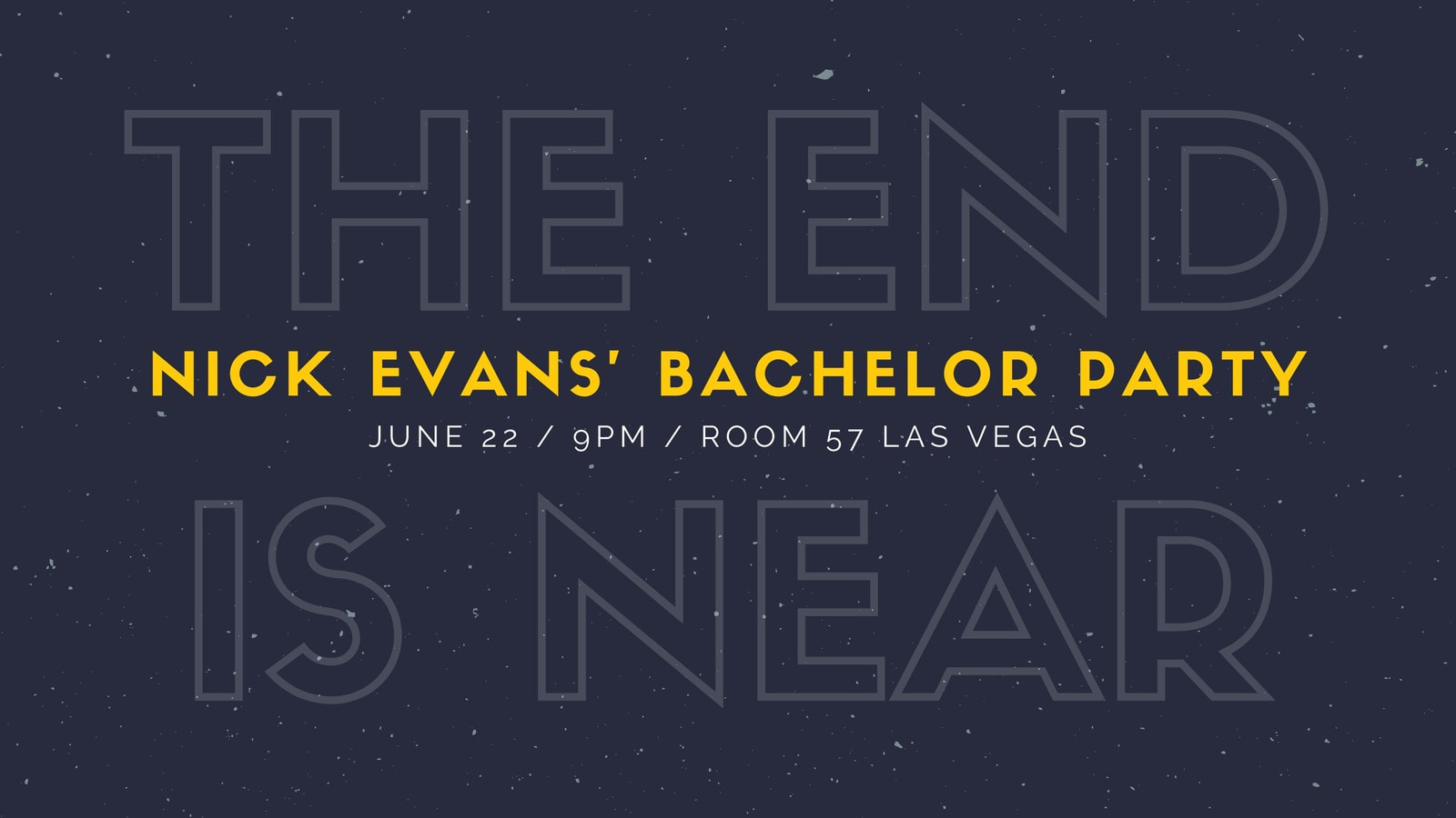 Dark Textured Bachelor Party Facebook Event Cover