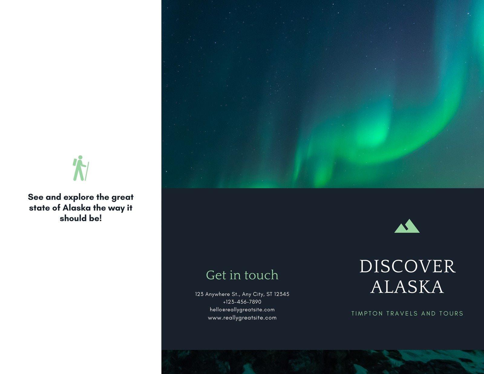 Alaska Northern Lights Tour Pamphlet Brochure