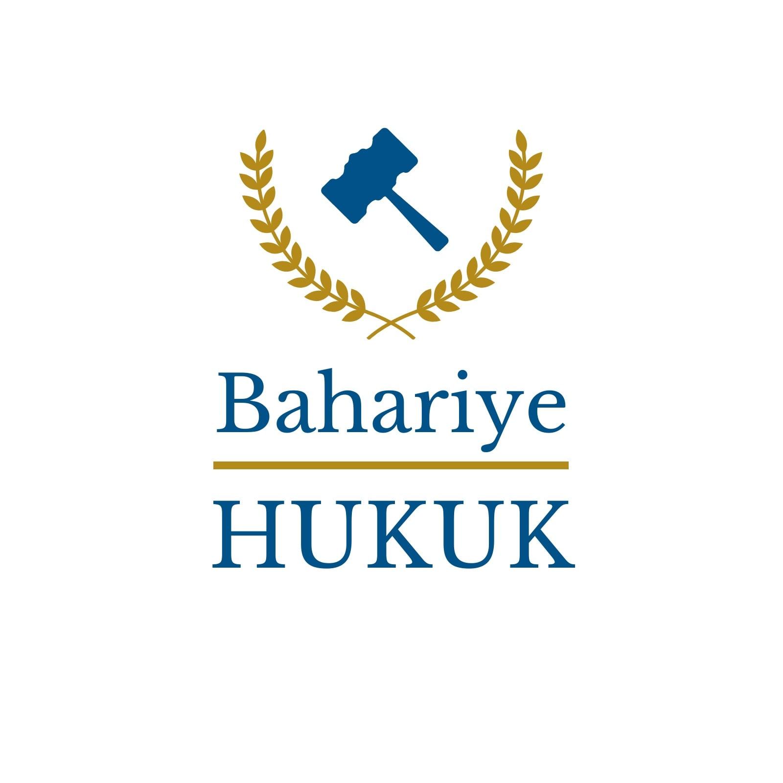 Mavi Altın Hakim Tokmağı Avukat ve Hukuk Logo