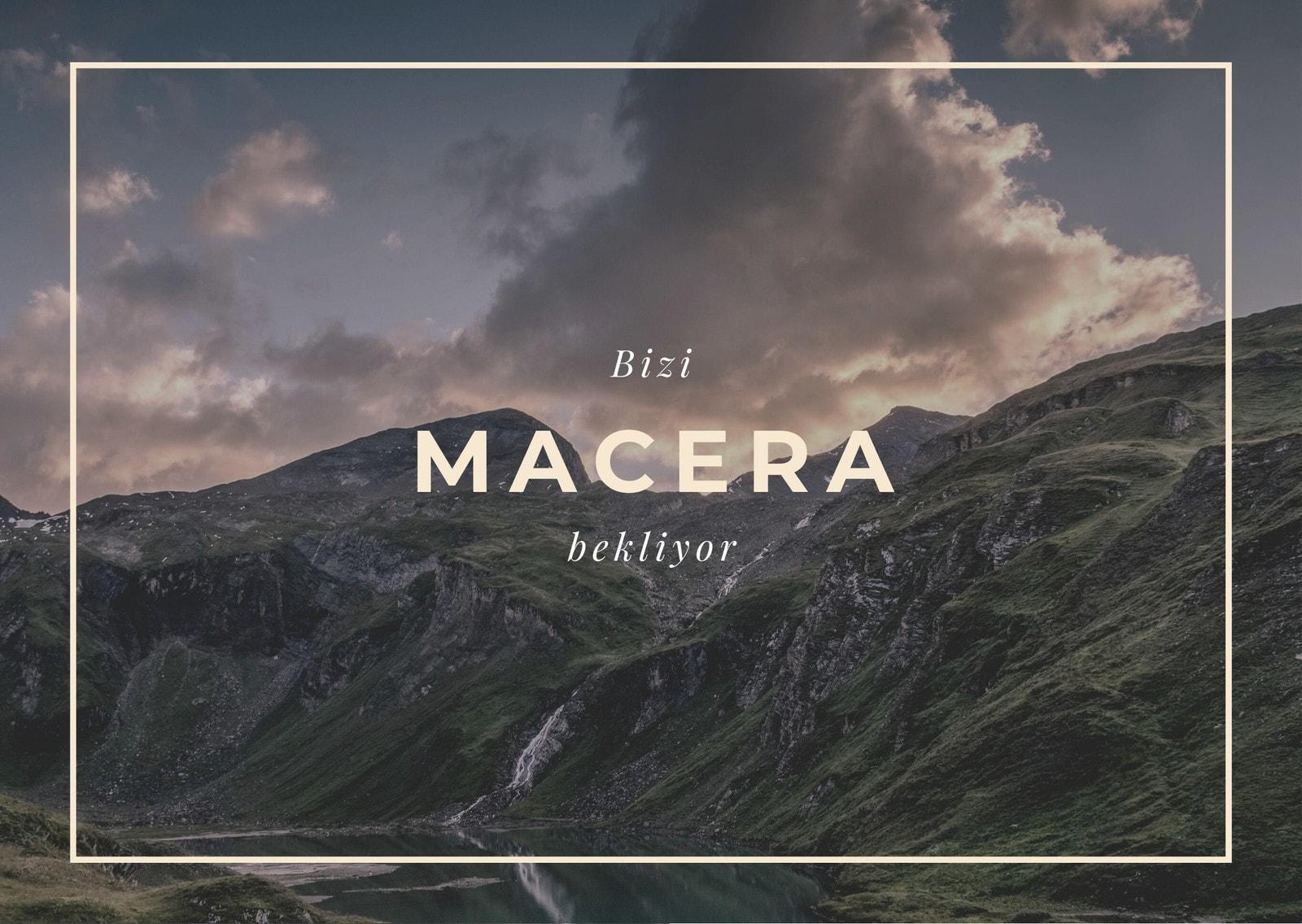Bej Dağ Manzarası Seyahat Resmi Kartpostal