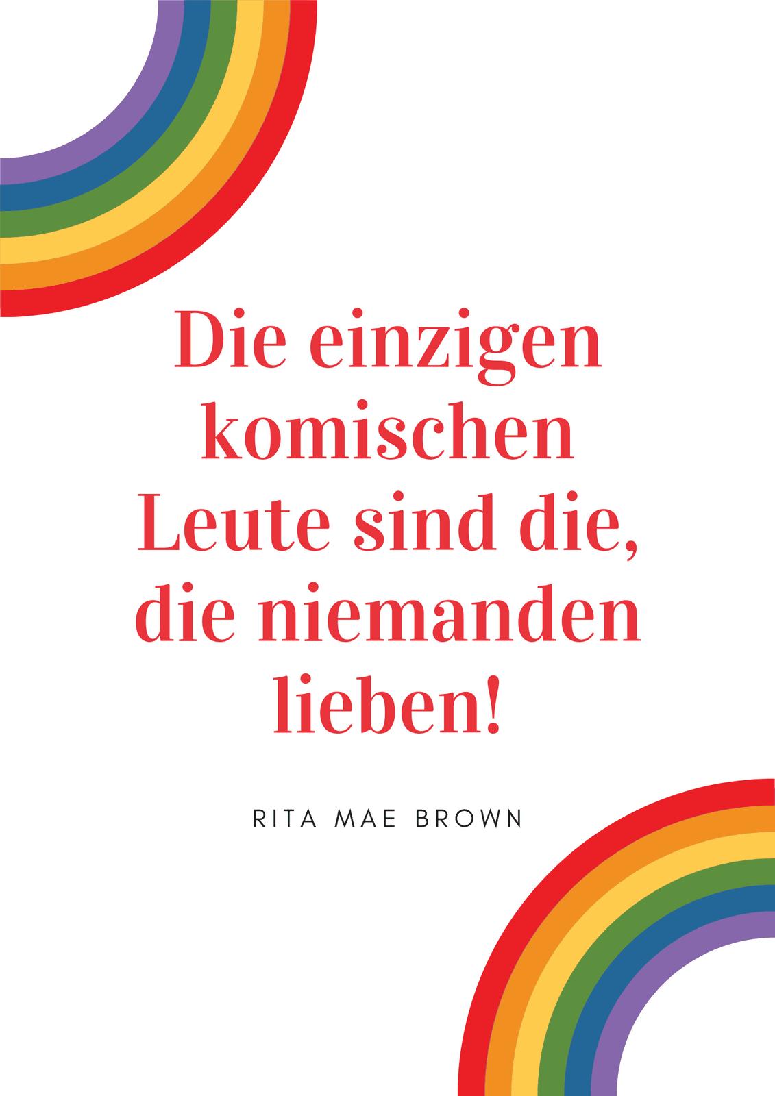 Einfach Regenbogen Flagge schwul Rechte Poster