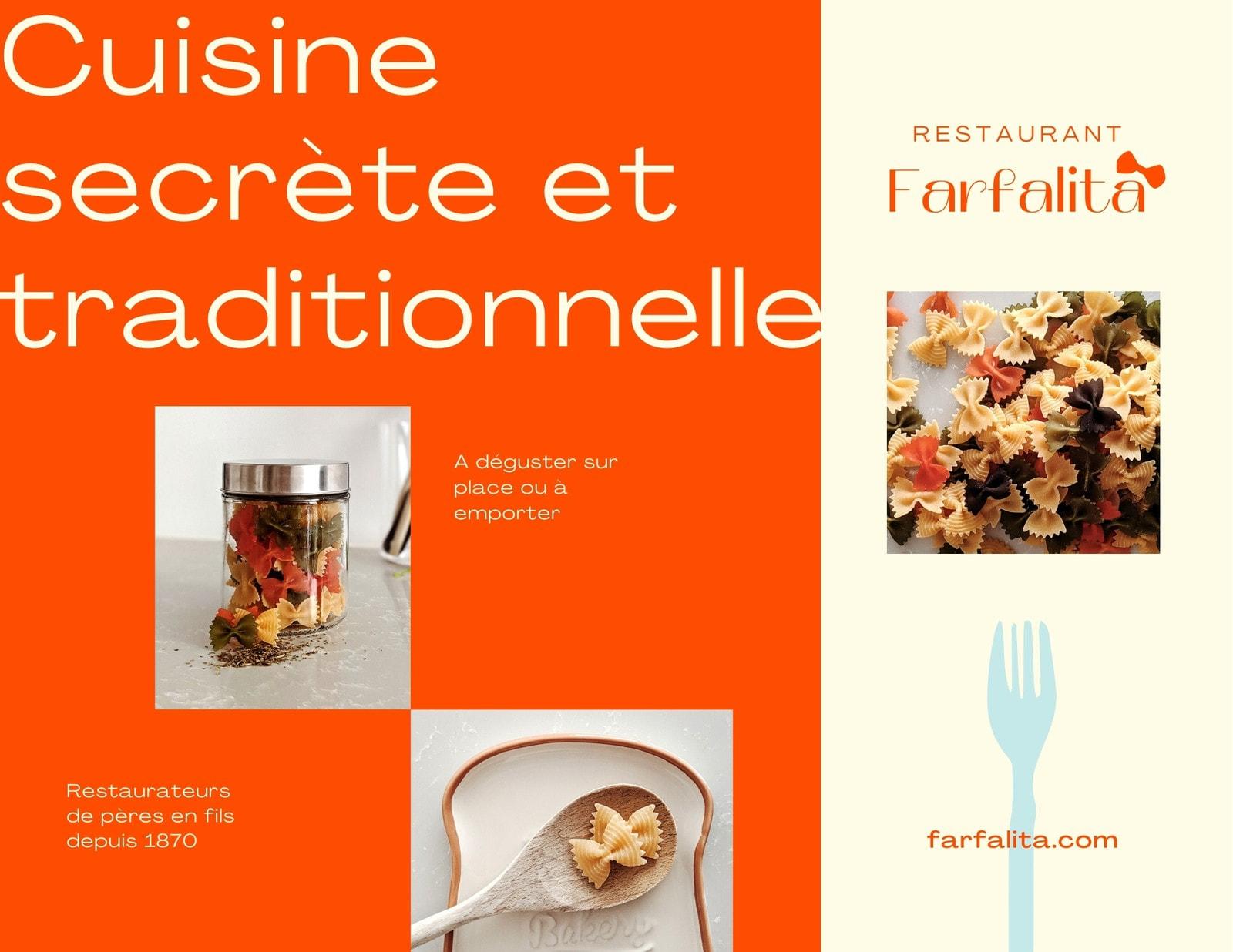 Kit media brochure menu restaurant italien