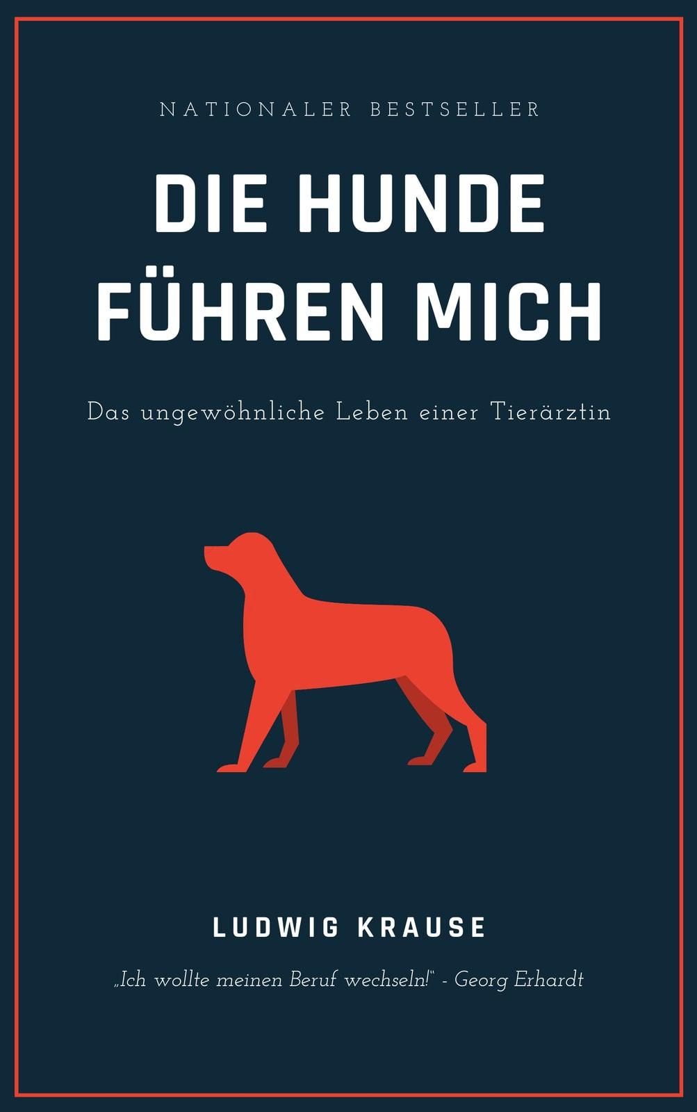Blau und Orange Hund Autobiografie Buch Einband