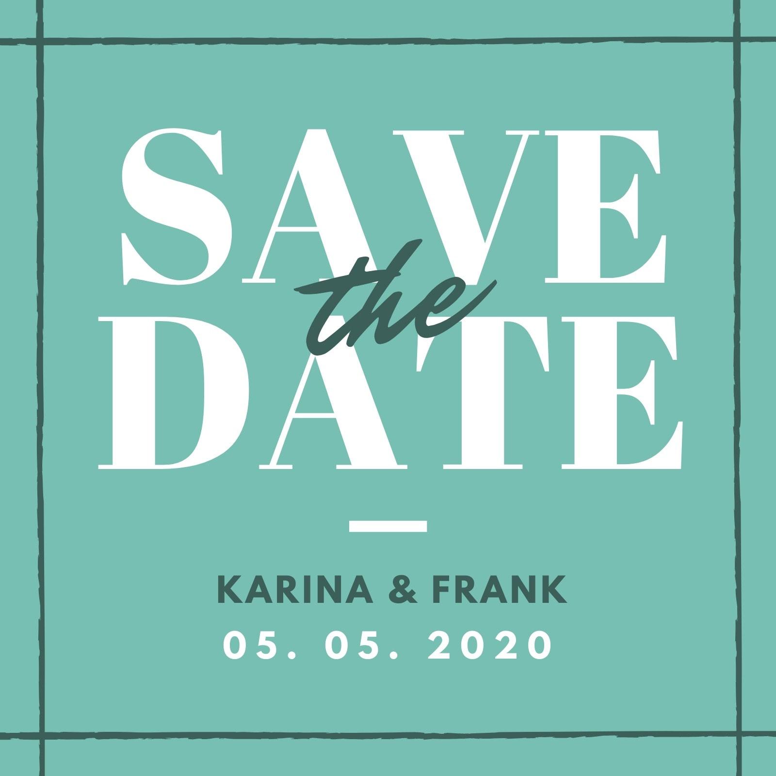 Einfach Save The Date Einladung