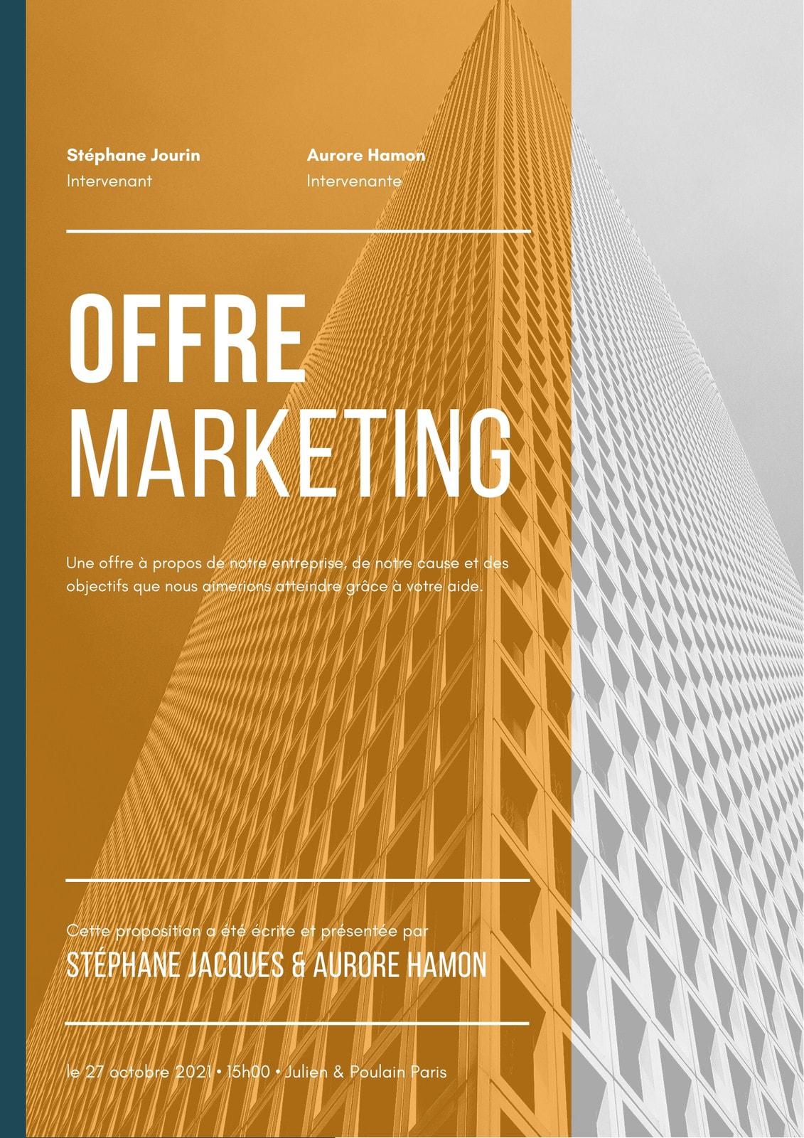 Orange et Bleu Marketing Offre