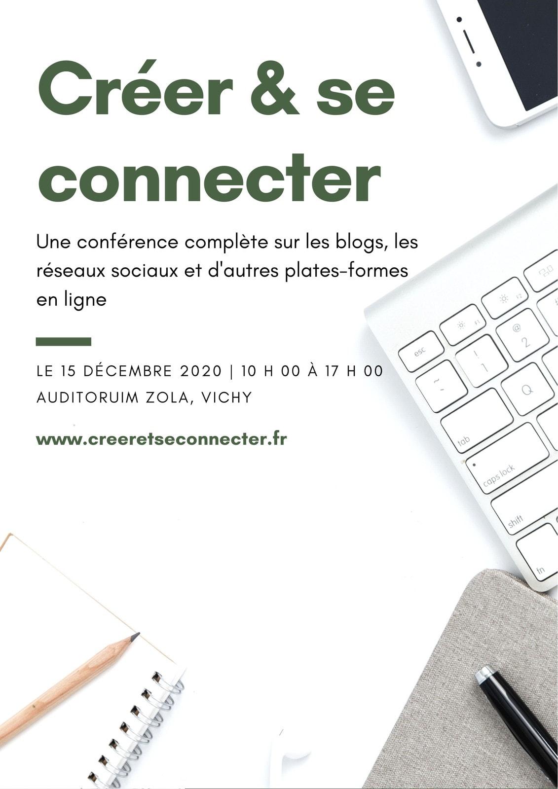 Blanc et Vert Photo à Plat Conférence Programme