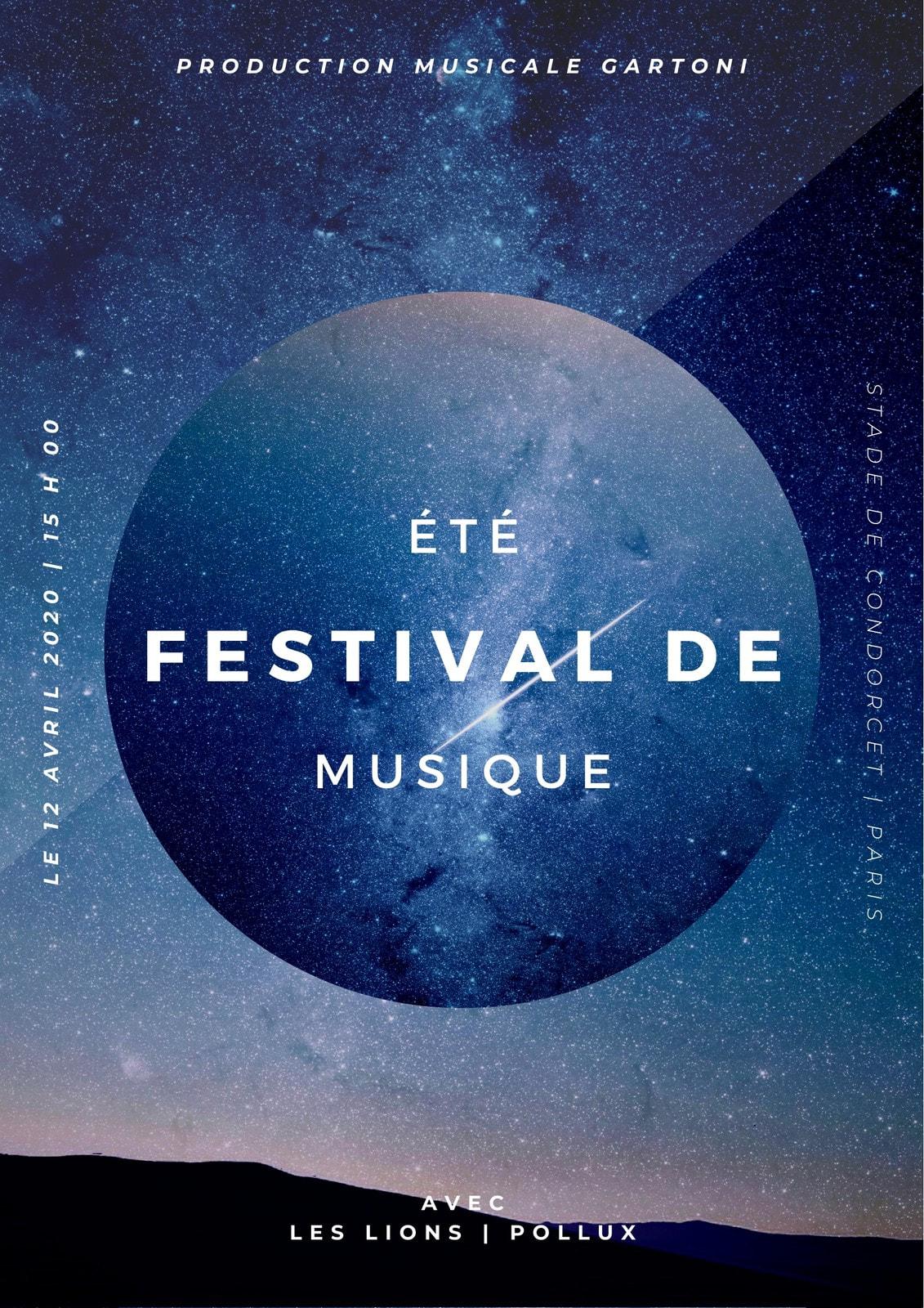Blanc et Noir Galaxie Musique Concert Programme