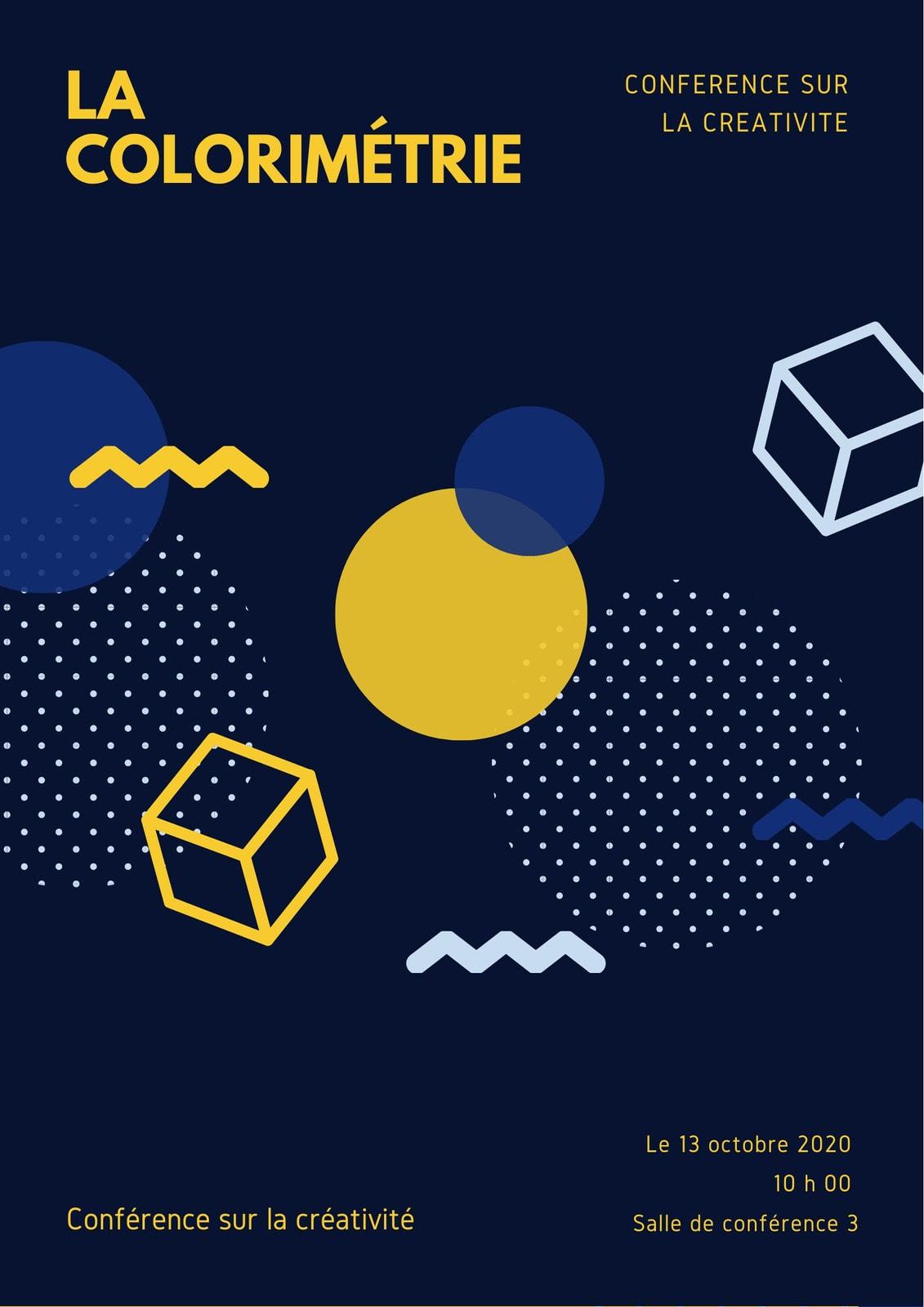 Fluo Géométrique Art Conférence Programme