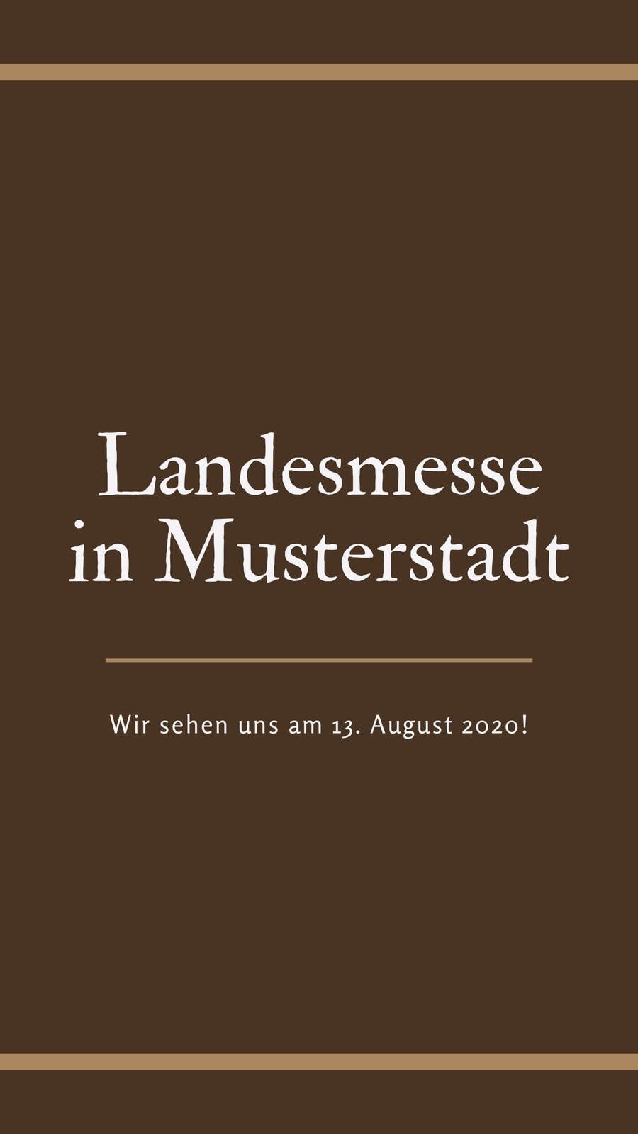 Sattel braun Rand Ingolstädter Landesmesse Story