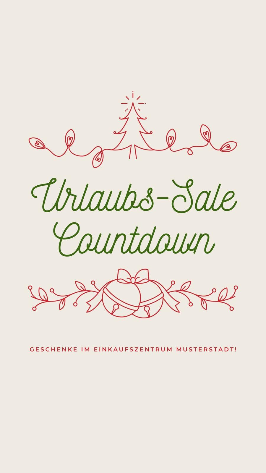Rot und Grün Illustriert Einzelhandel Feiertag Ausverkauf Instagram-Story