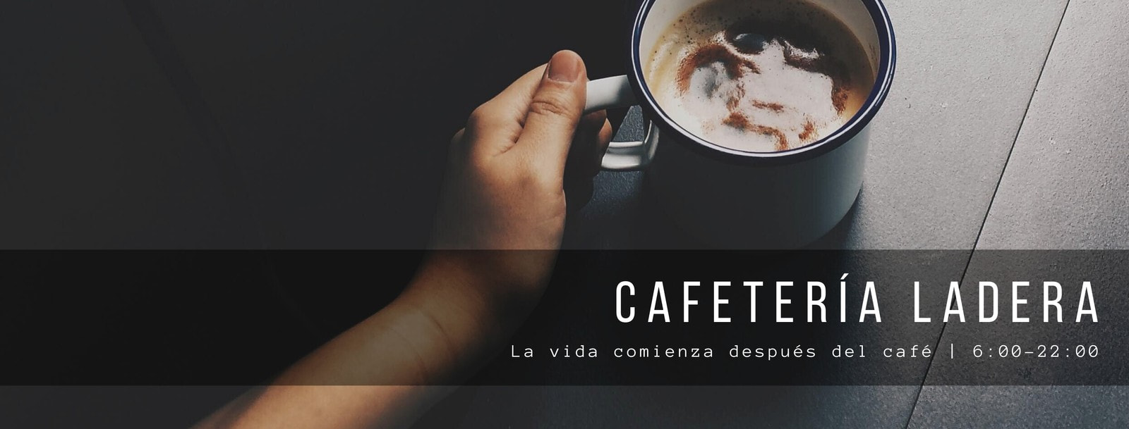 Gris Temática de Café Portada de Facebook