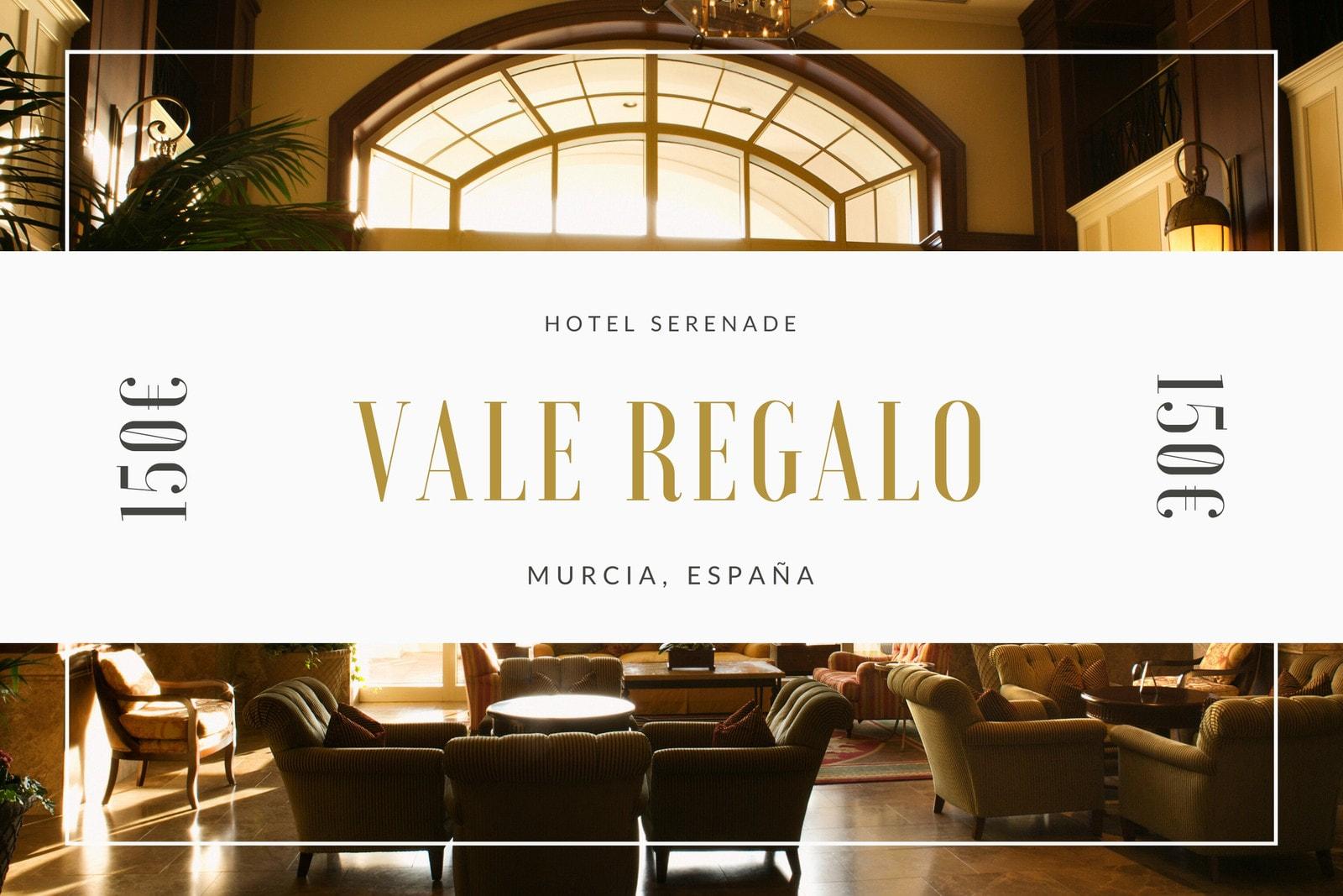 Marrón Foto Moderna Borde Hotel Vale Regalo