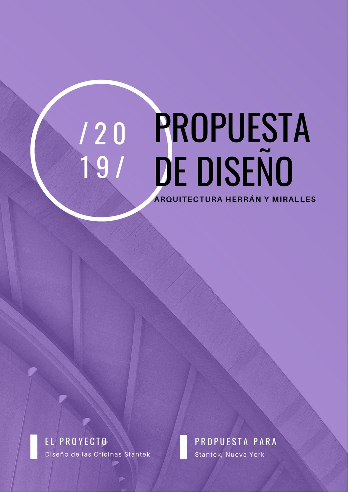 Púrpura Simple Corporativo Foto General Propuesta