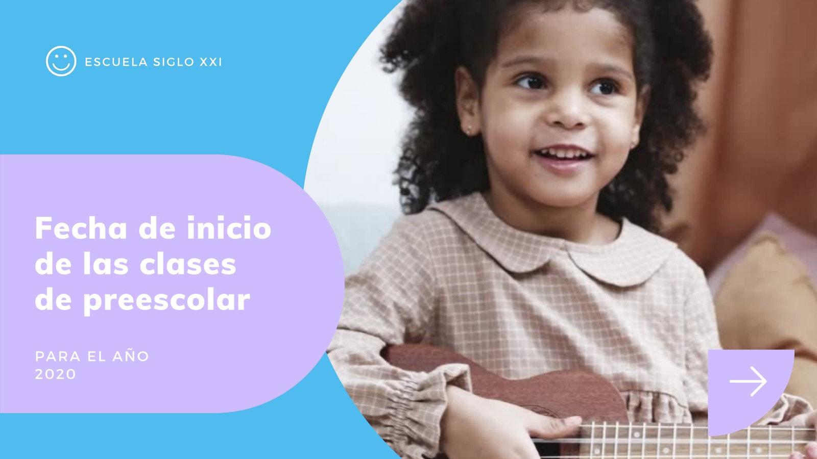 Azul, Púrpura y Blanco Escuelas/Teleaprendizaje Video de 16:9