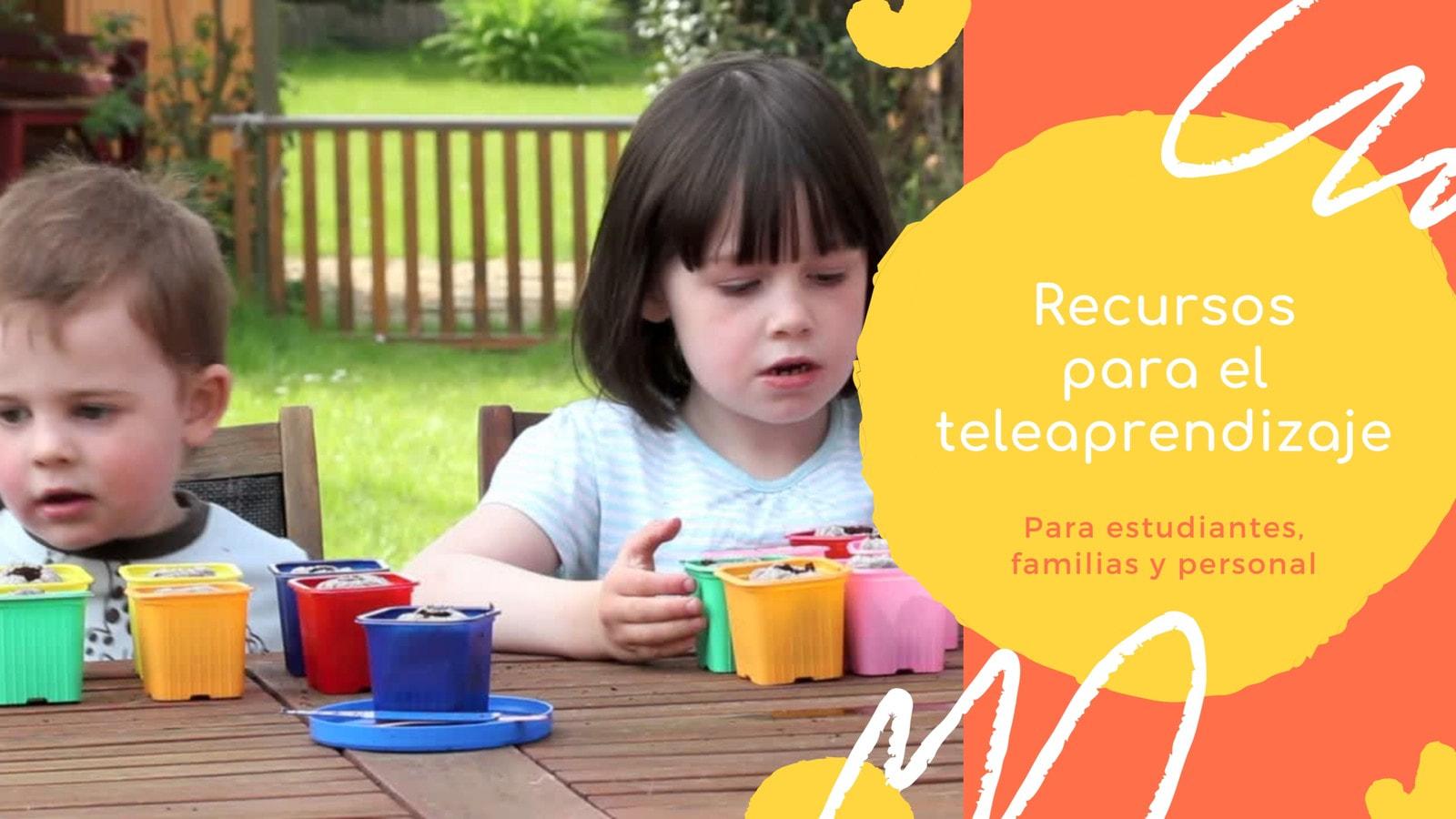 Naranja, Amarillo y Blanco Escuela/Teleaprendizaje Video de 16:9