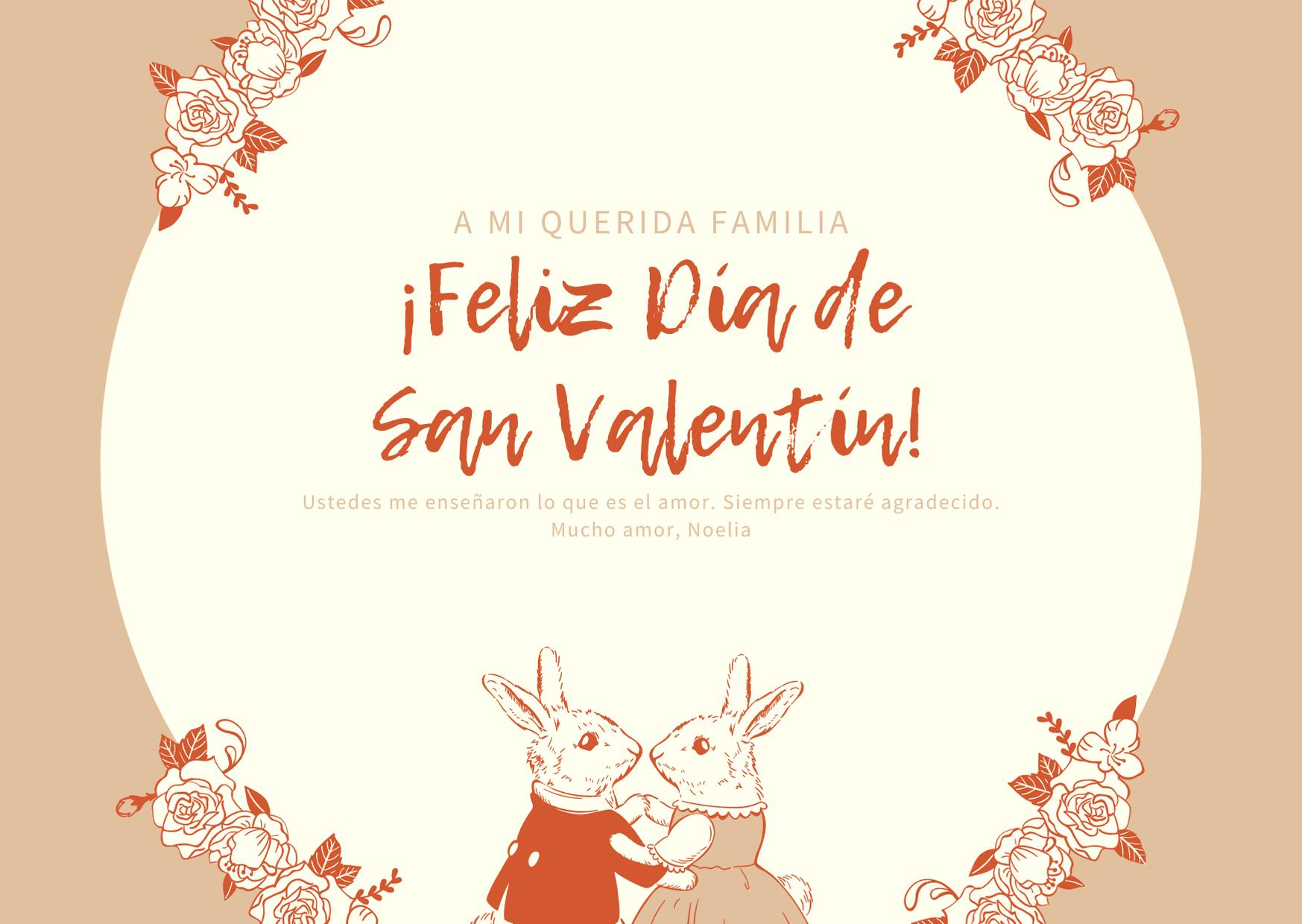 Beige Vintage Estilo Día de San Valentín Tarjeta
