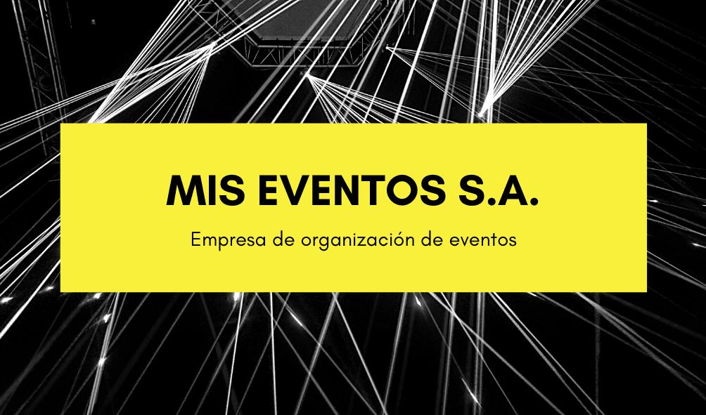 Negro y Amarillo Foto Evento Organizadora Tarjeta de Presentación
