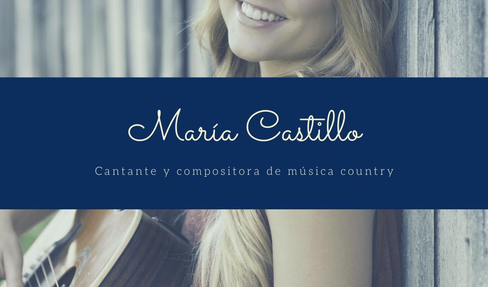 Azul Mujer Guitarra Música Tarjeta de Presentación