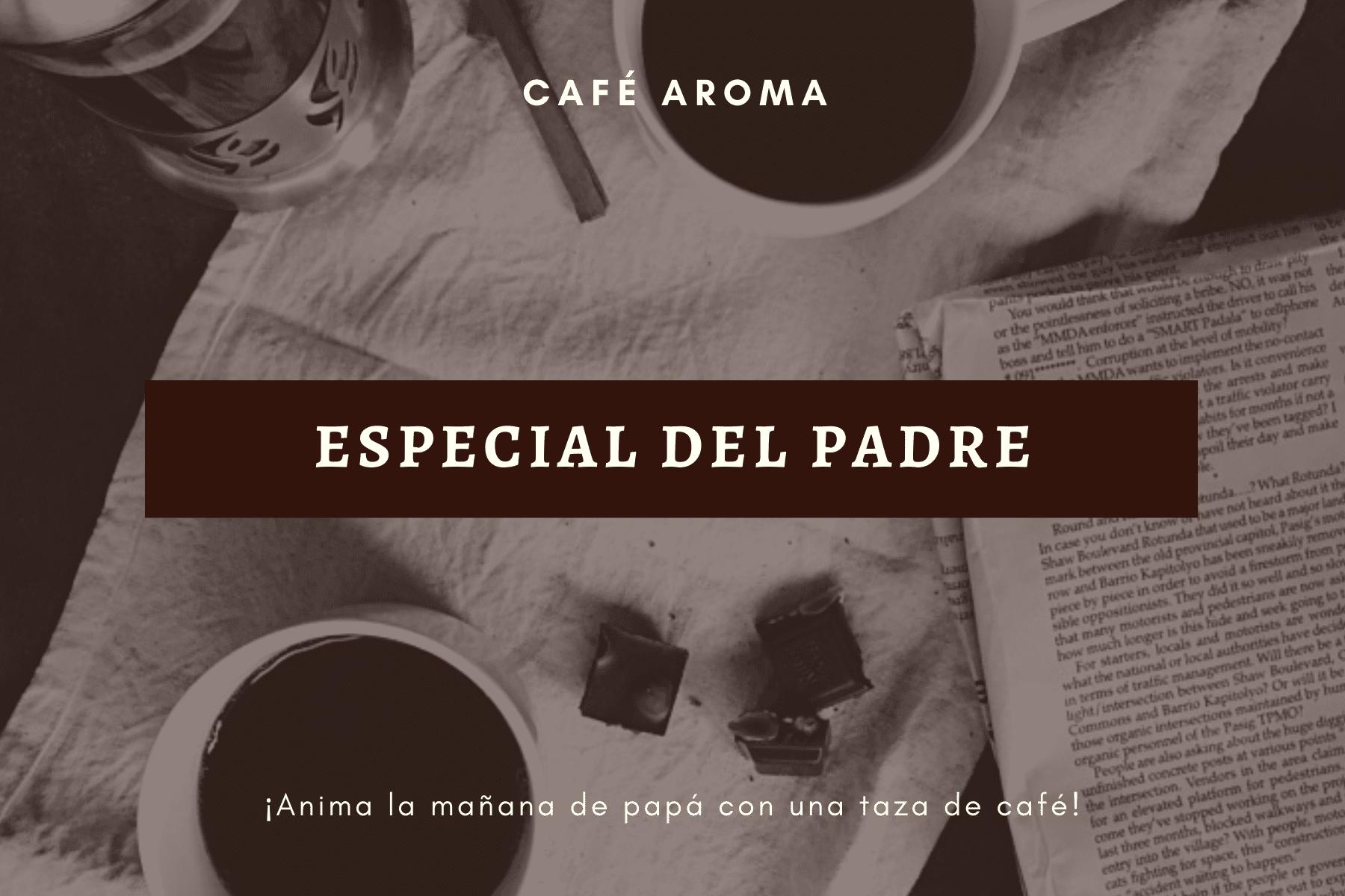 Marrón Oscuro Café Foto Día del Padre Certificado de Regalo