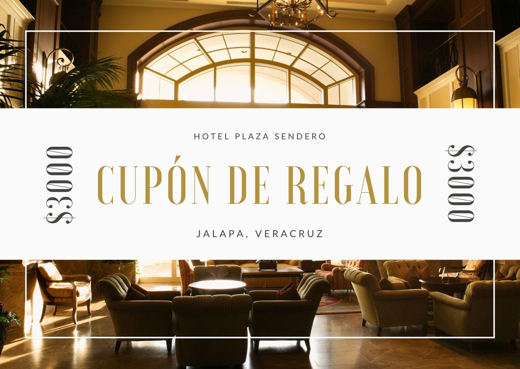 Moderno Foto Borde Hotel Certificado de Regalo