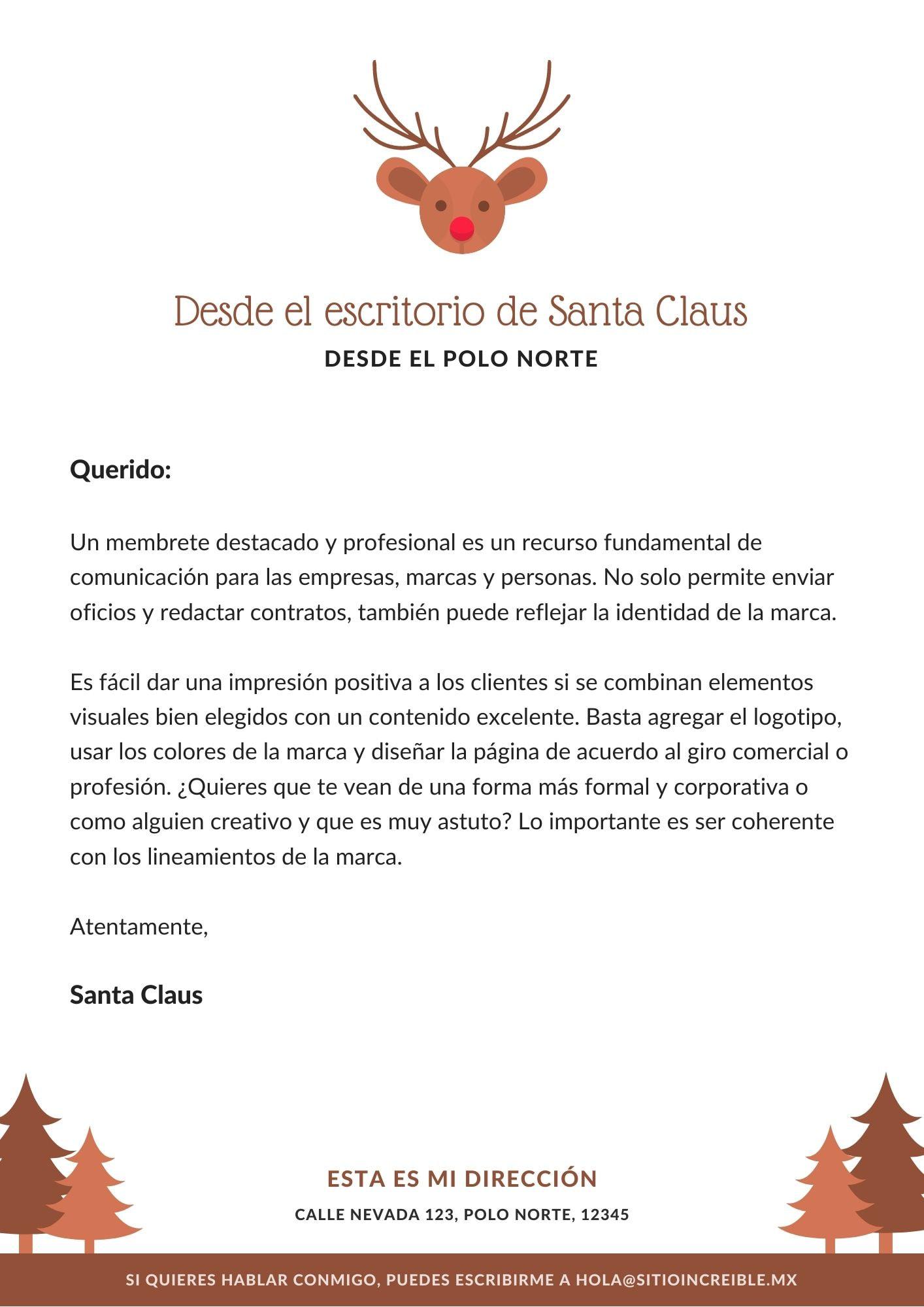 Marrón Reno Icono Carta de Santa